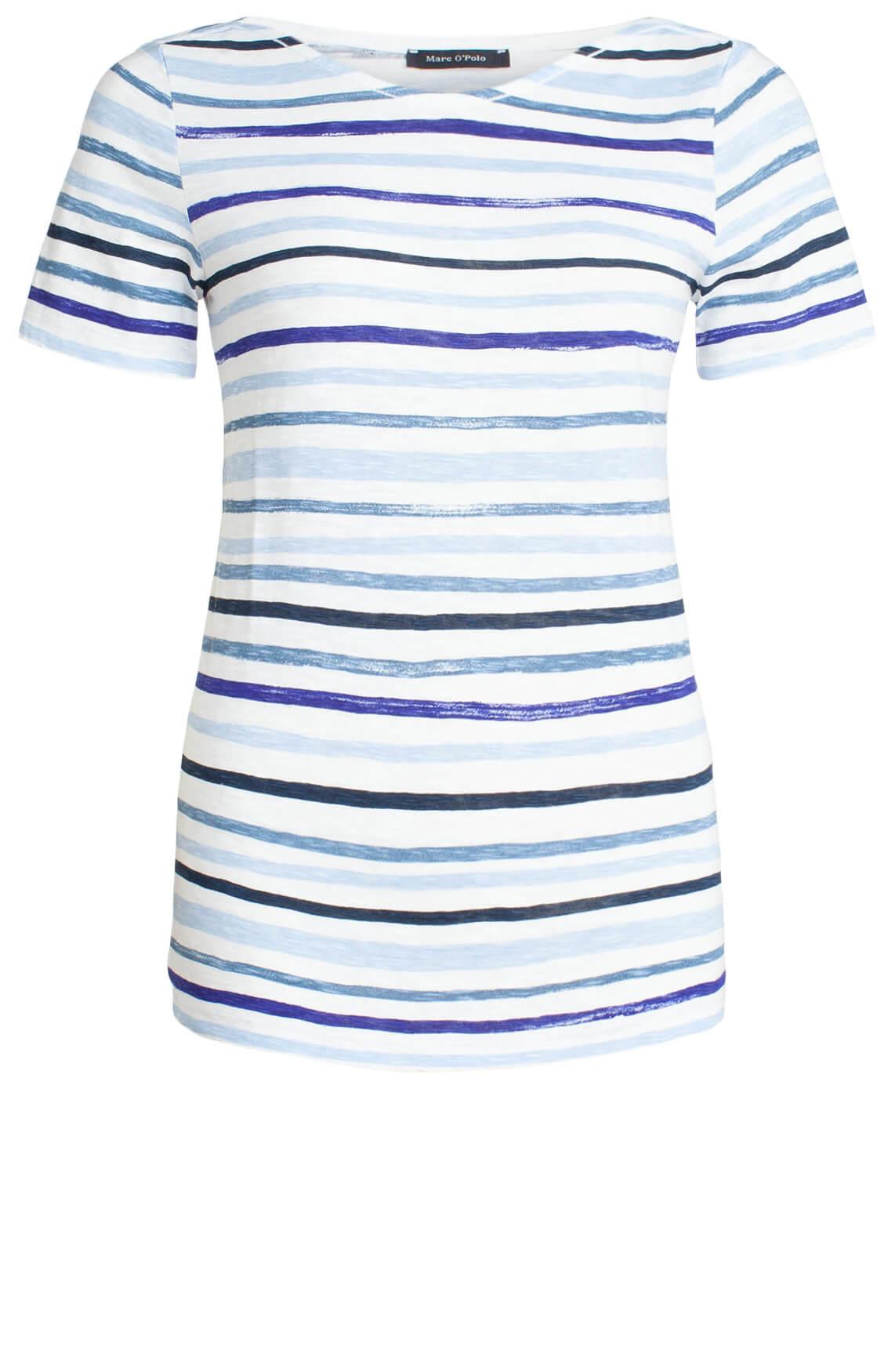 Marc O'Polo Dames T-shirt met strepen Blauw