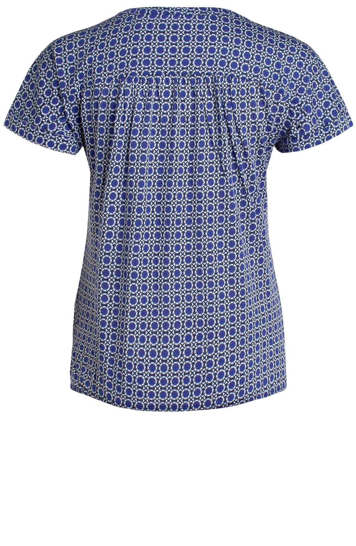 Marc O'Polo Dames Blouse met print Blauw