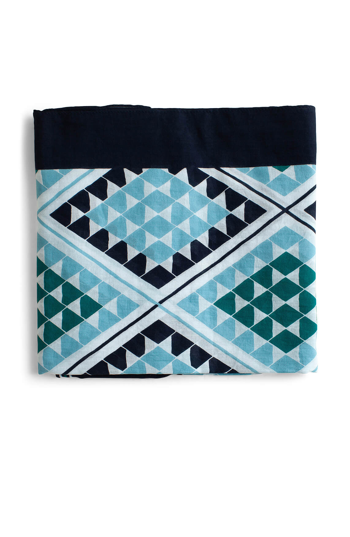 Marc O'Polo Dames Shawl met grafische print Blauw