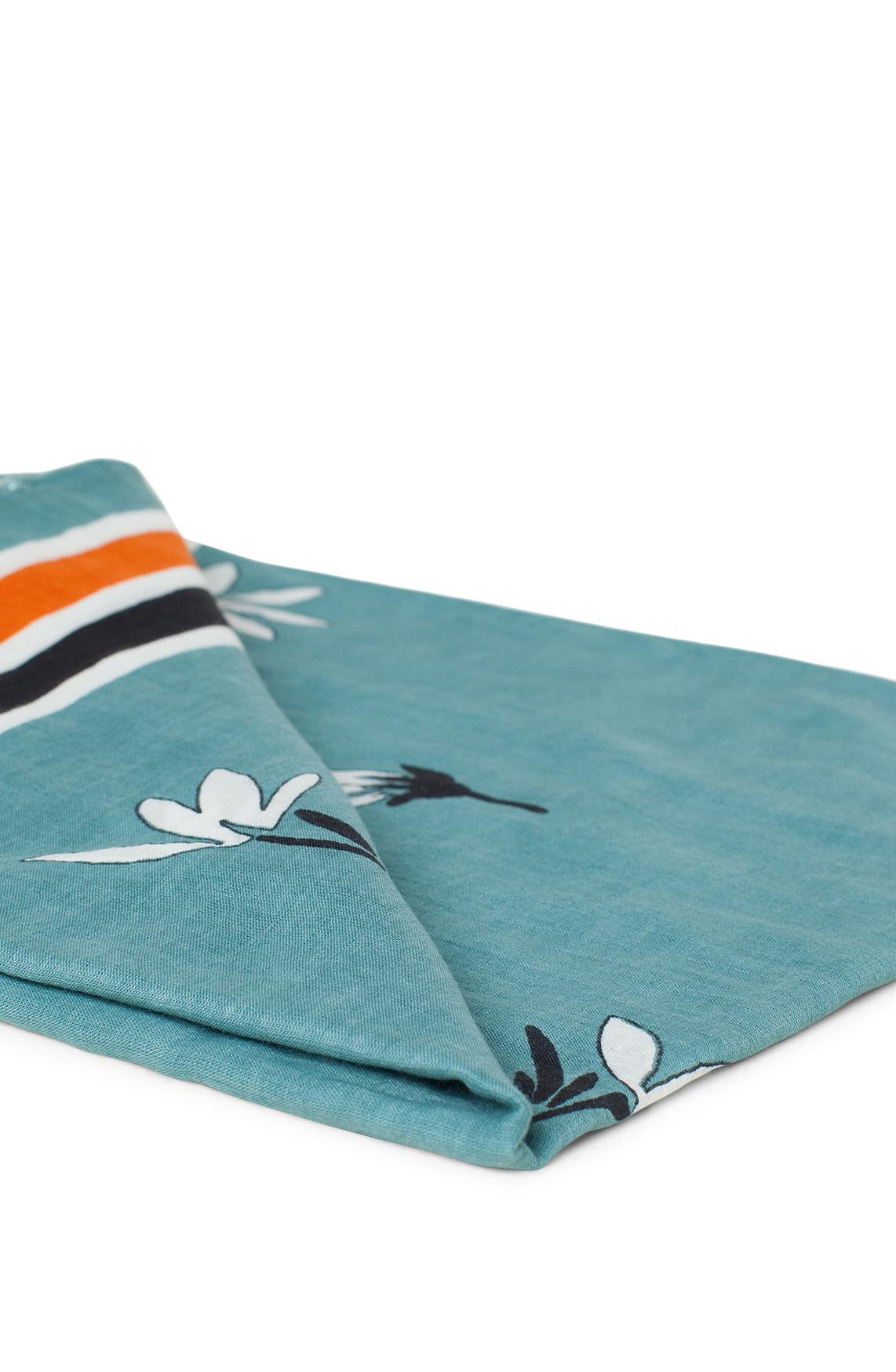 Anna Dames Geprinte shawl met kwastjes groen
