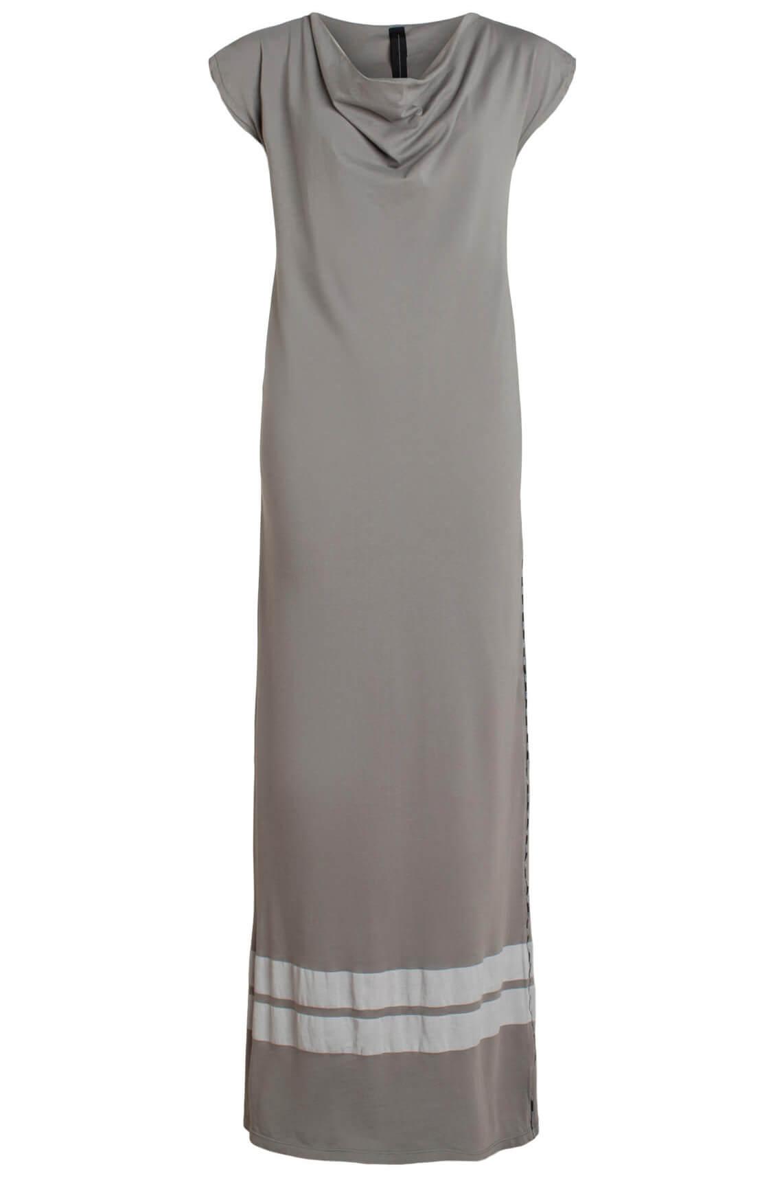 10 Days Dames Lange jurk met strepen Bruin