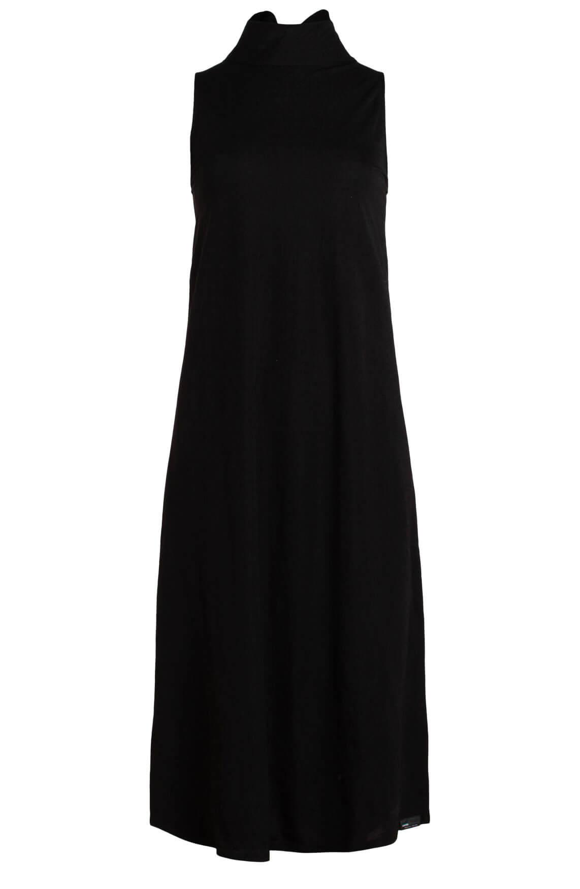 Penn & Ink Dames Lange jurk met strikdetail zwart