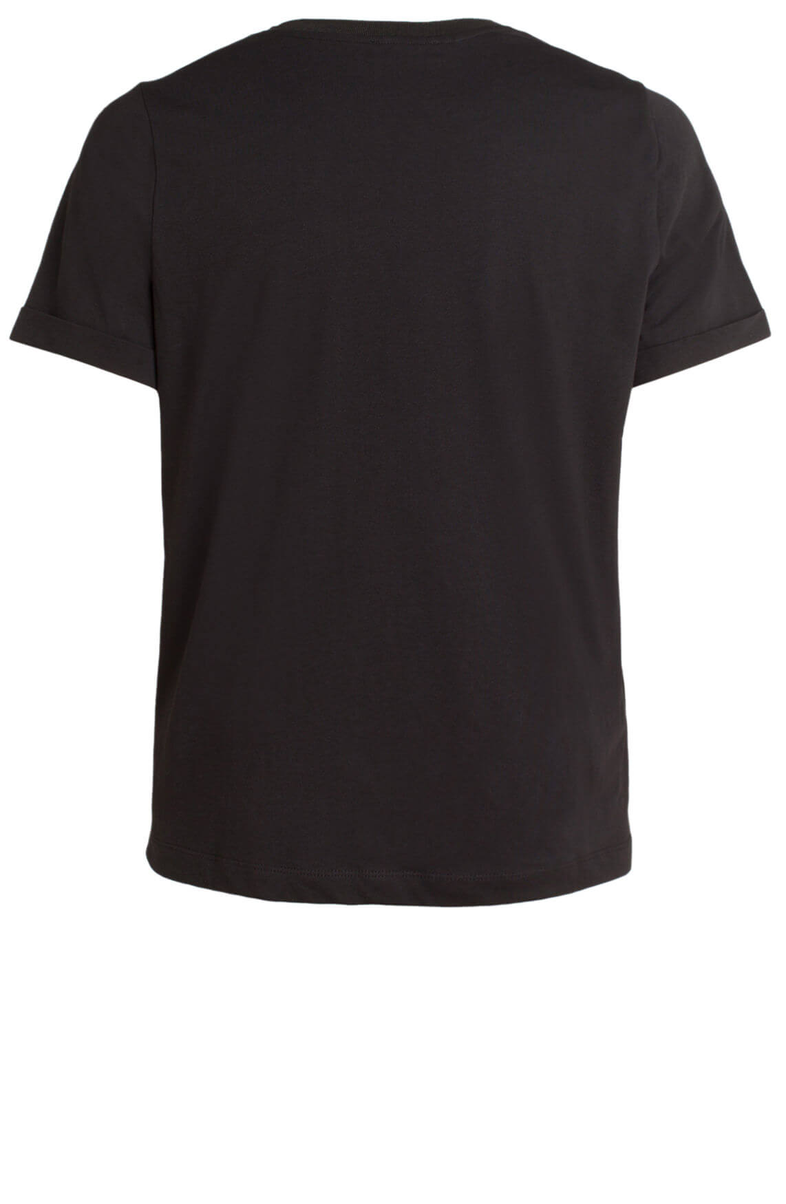 Anna Dames Shirt met borduursel zwart