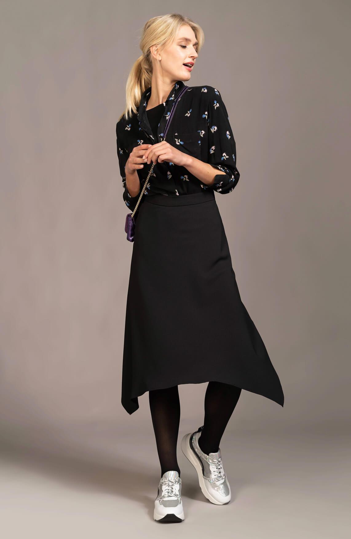 Anna Dames Blouse met print zwart
