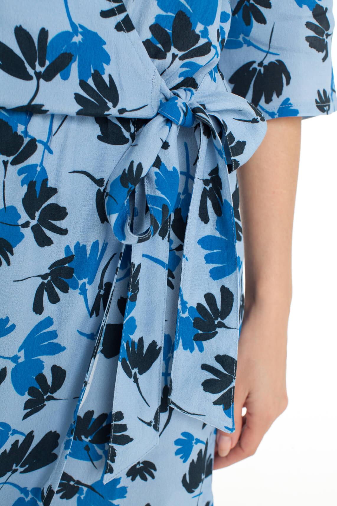 Anna Blue Dames Jumpsuit met bloemenprint Blauw
