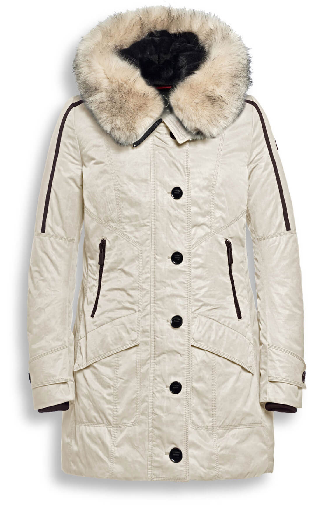 Creenstone Dames Parka met fake fur Ecru