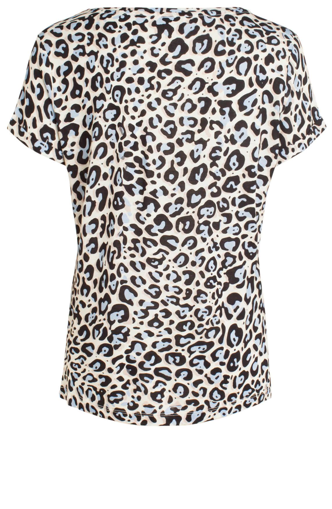 Anna Dames Shirt met panterprint Ecru