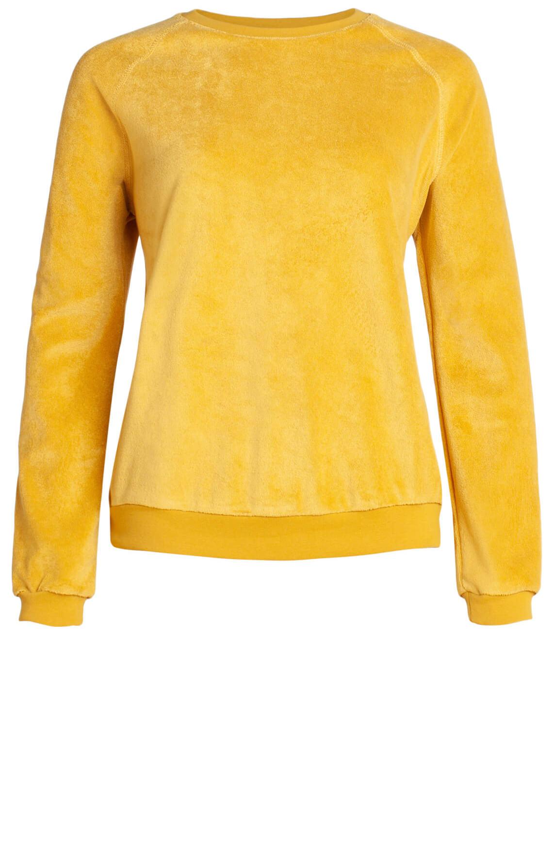 By-Bar Dames Teddy pullover geel