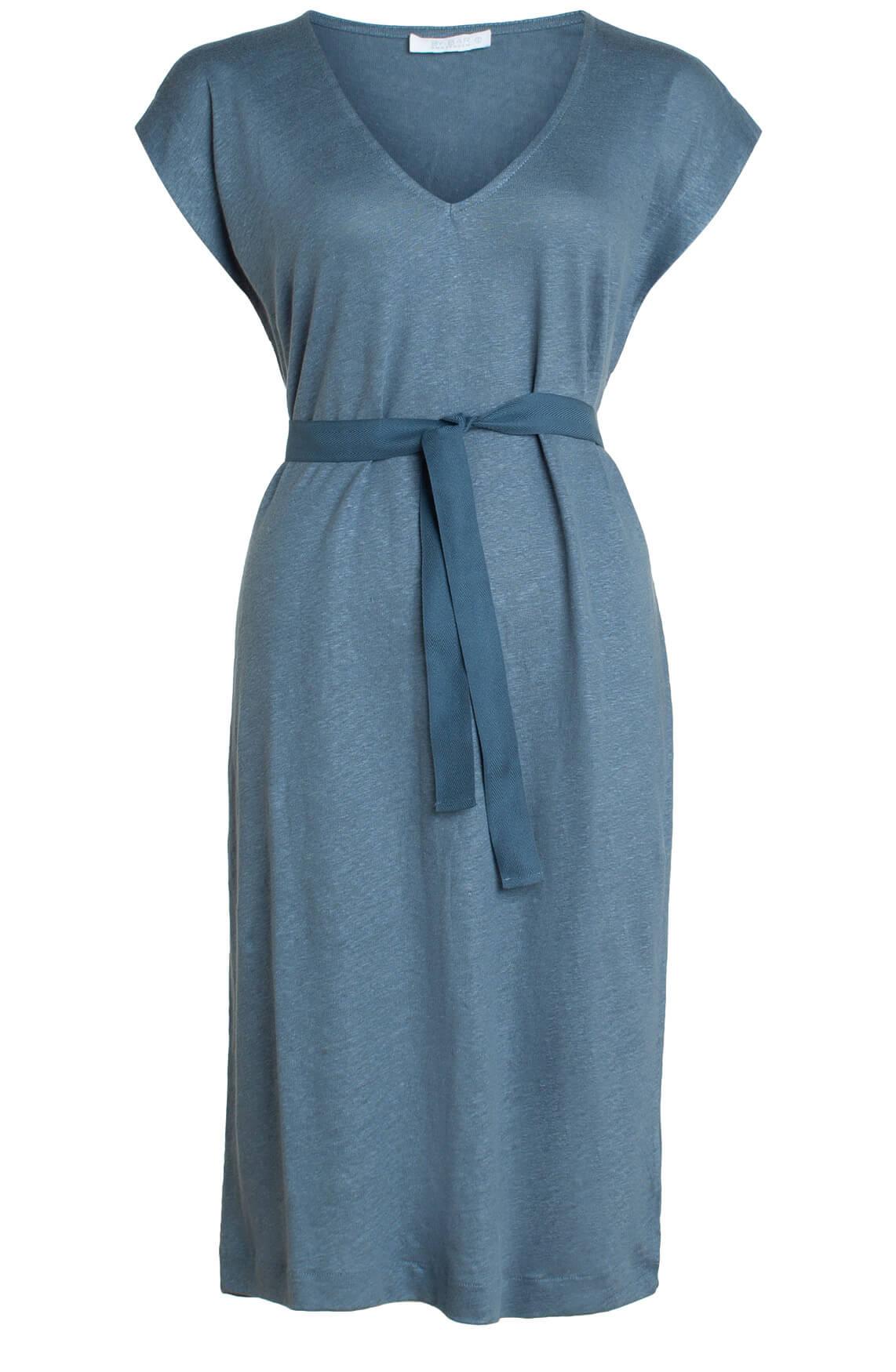 By-Bar Dames Sofia linnen jurk Blauw