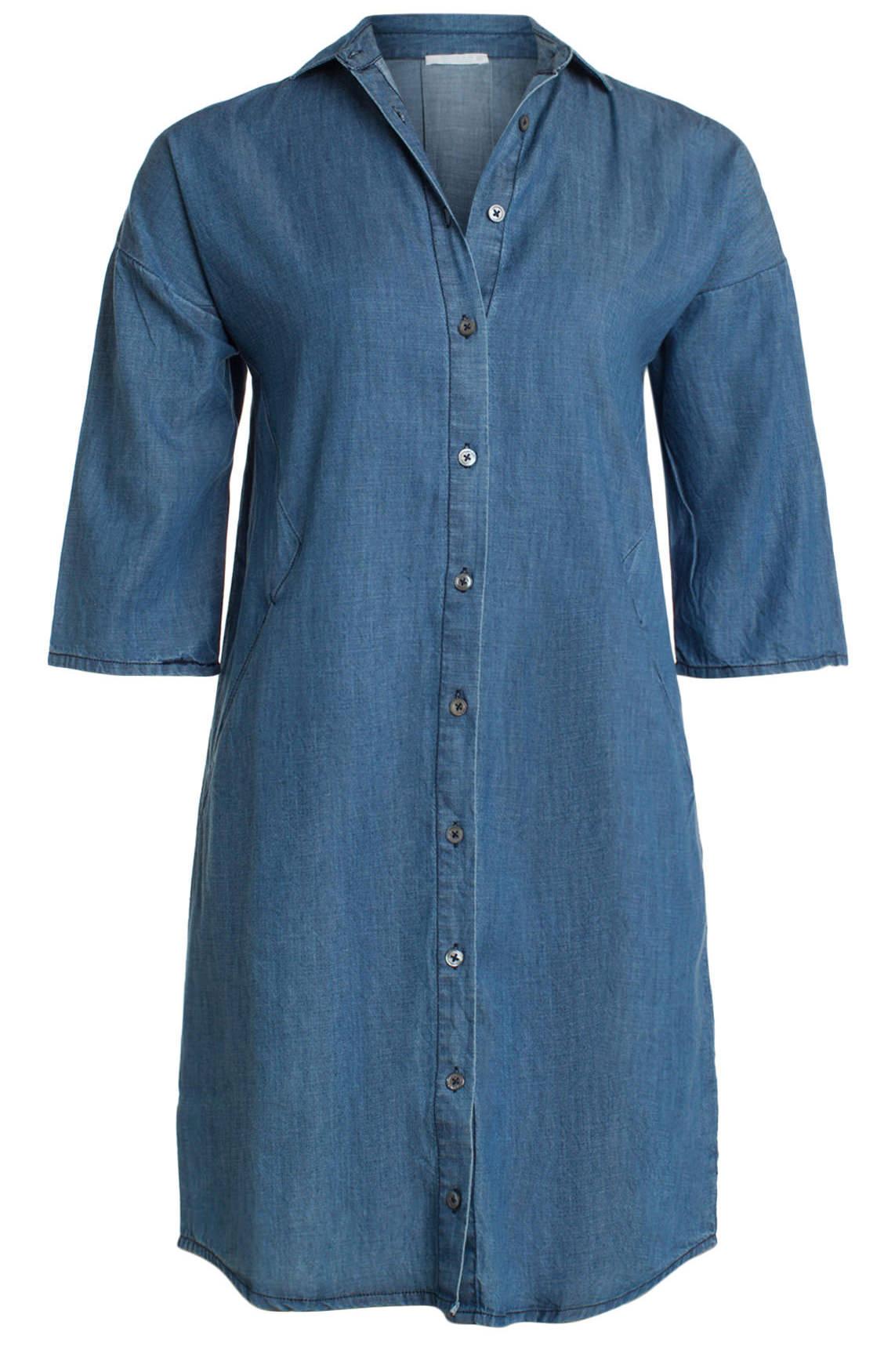 By-Bar Dames Denim jurk Blauw