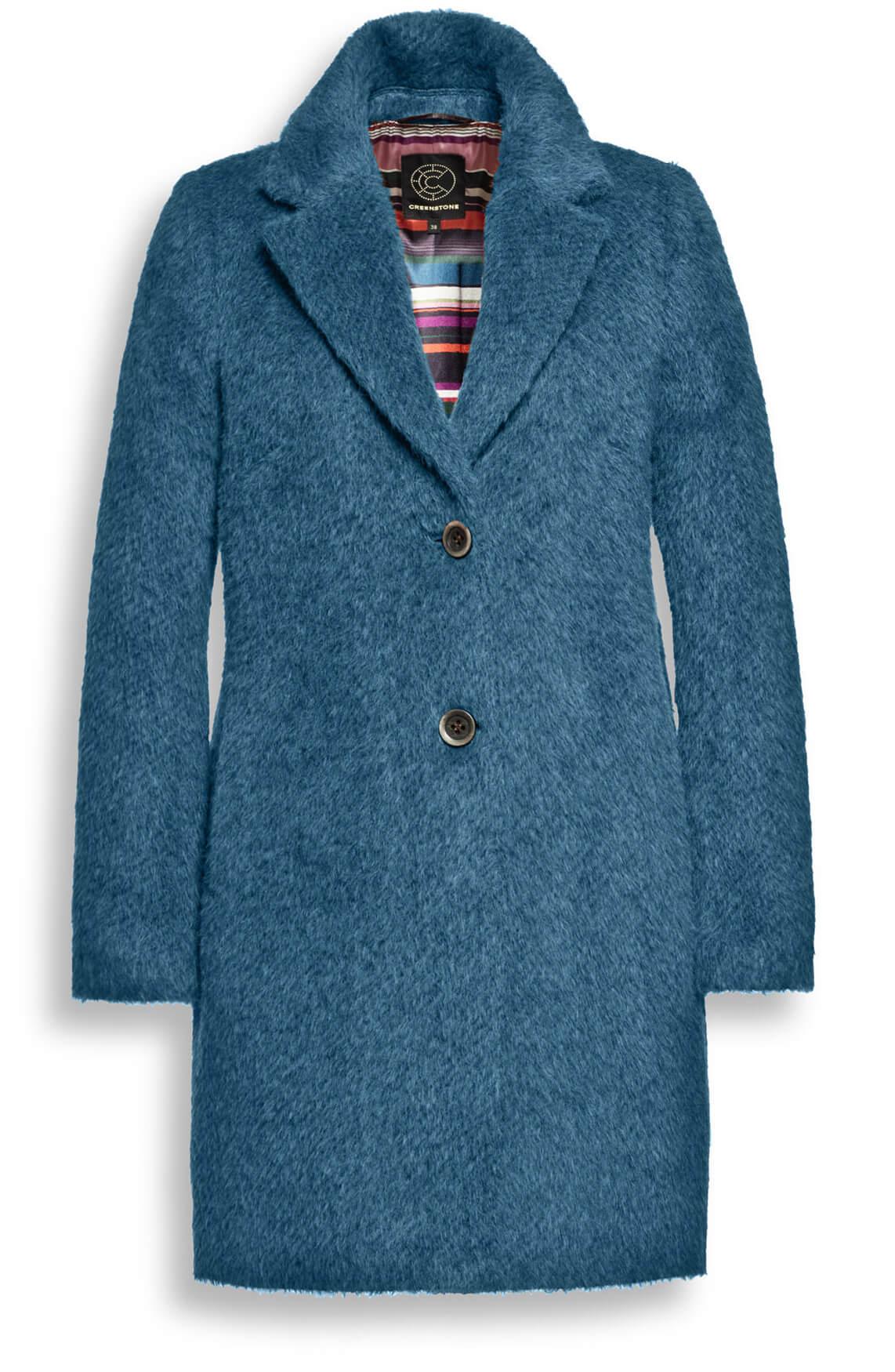Creenstone Dames Wollen mantel Blauw