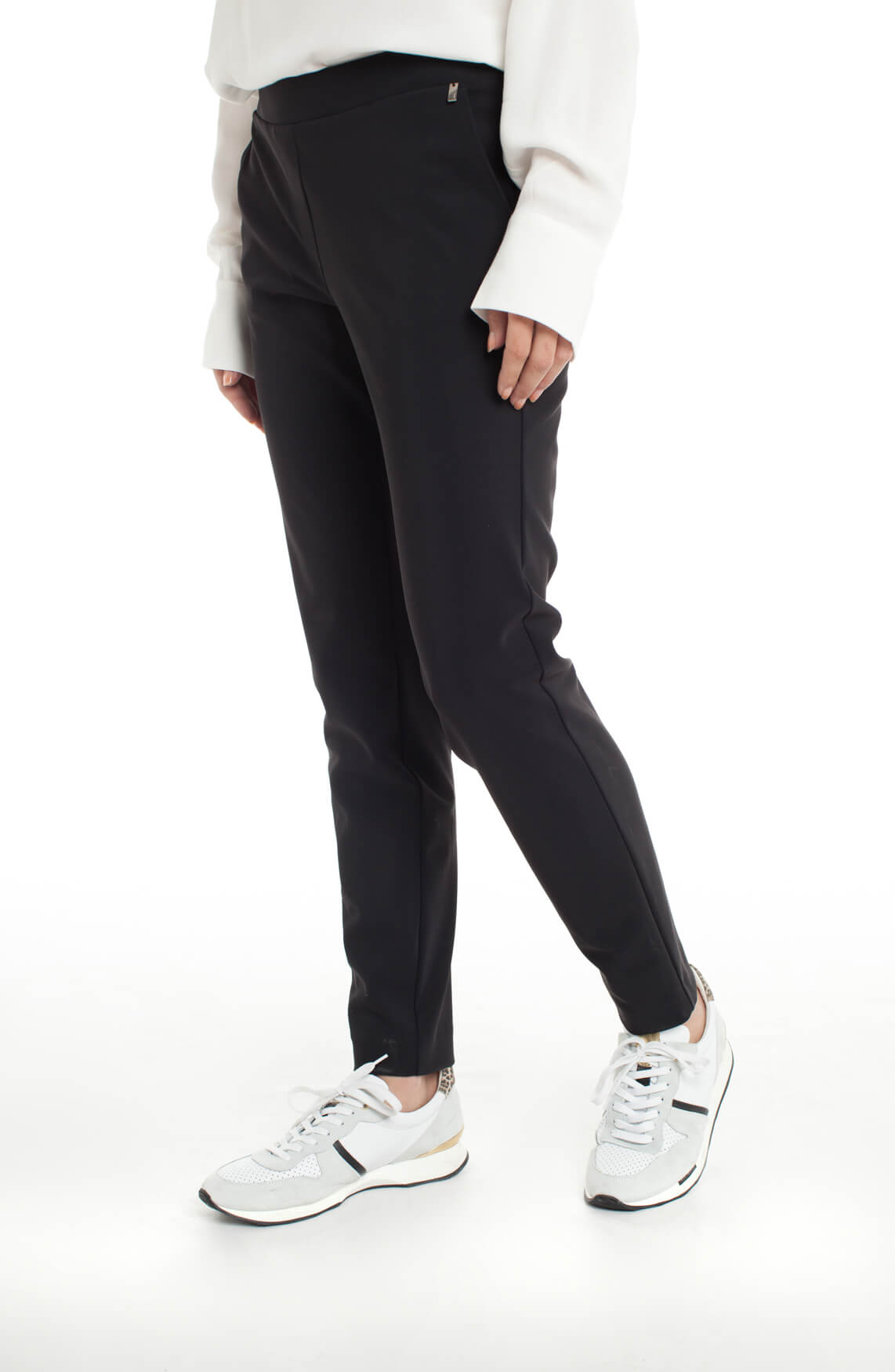 Anna Dames Jersey sensitive pantalon zwart
