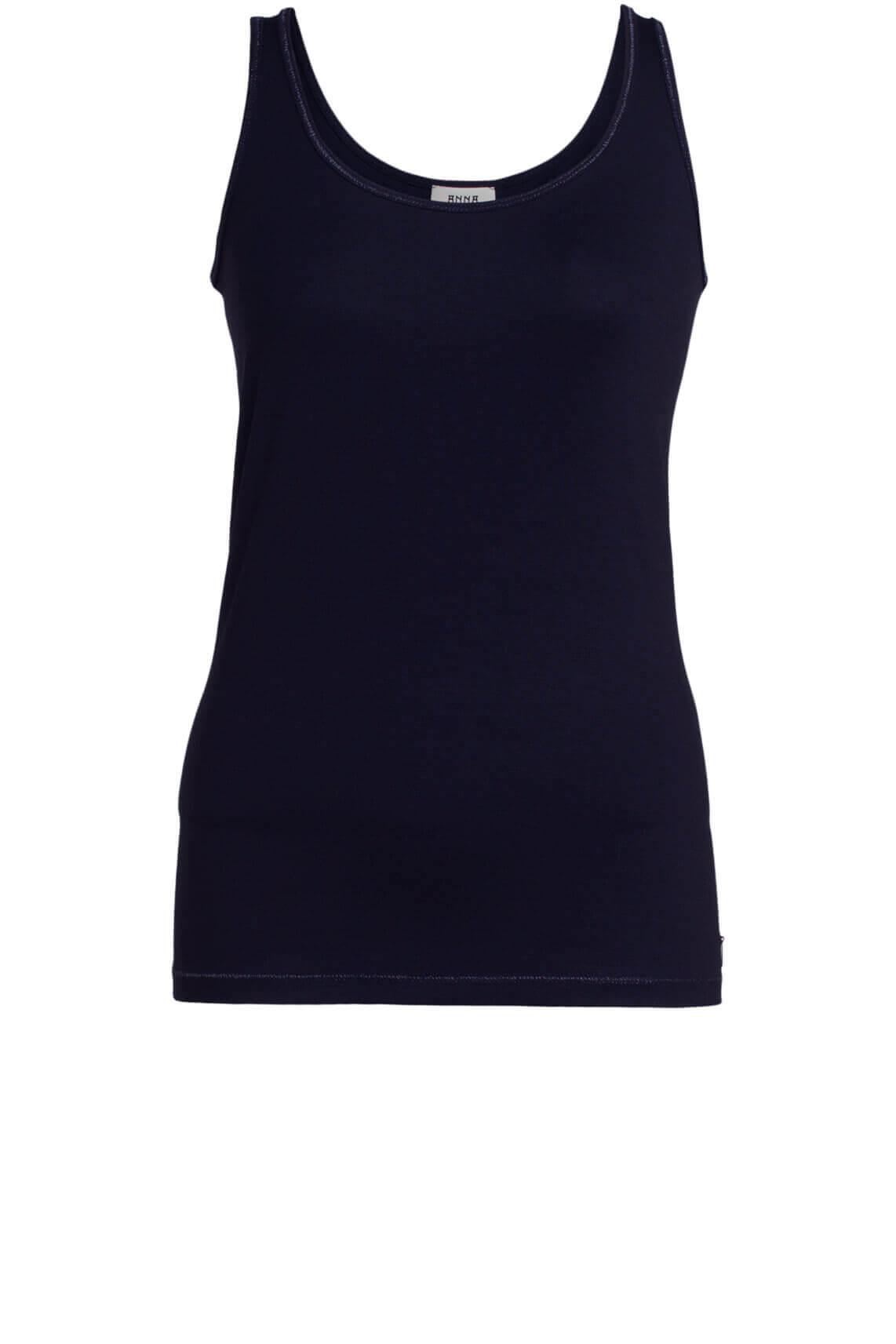 Anna Dames Top met lurex Blauw