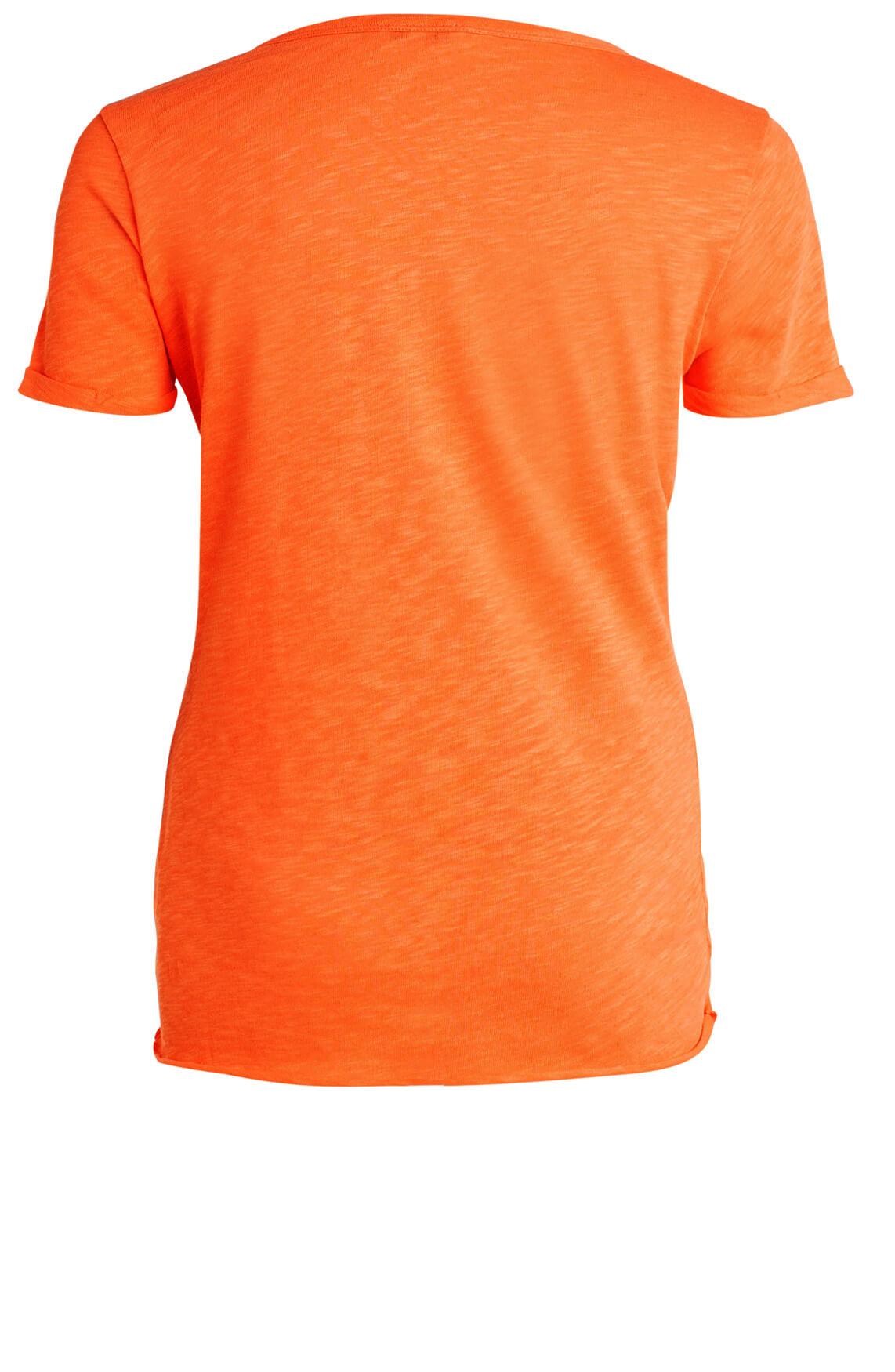 Anna Dames Shirt met strikdetail Oranje