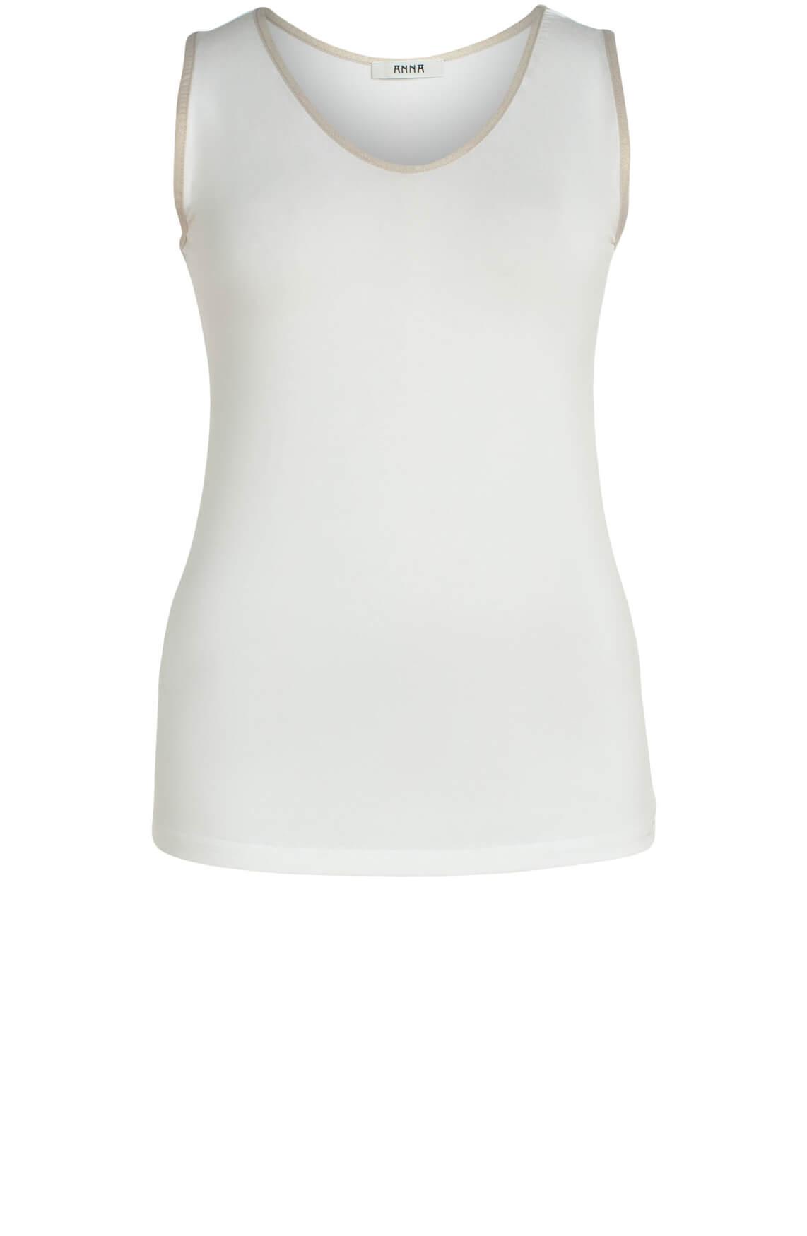 Anna Dames Top met lurex wit