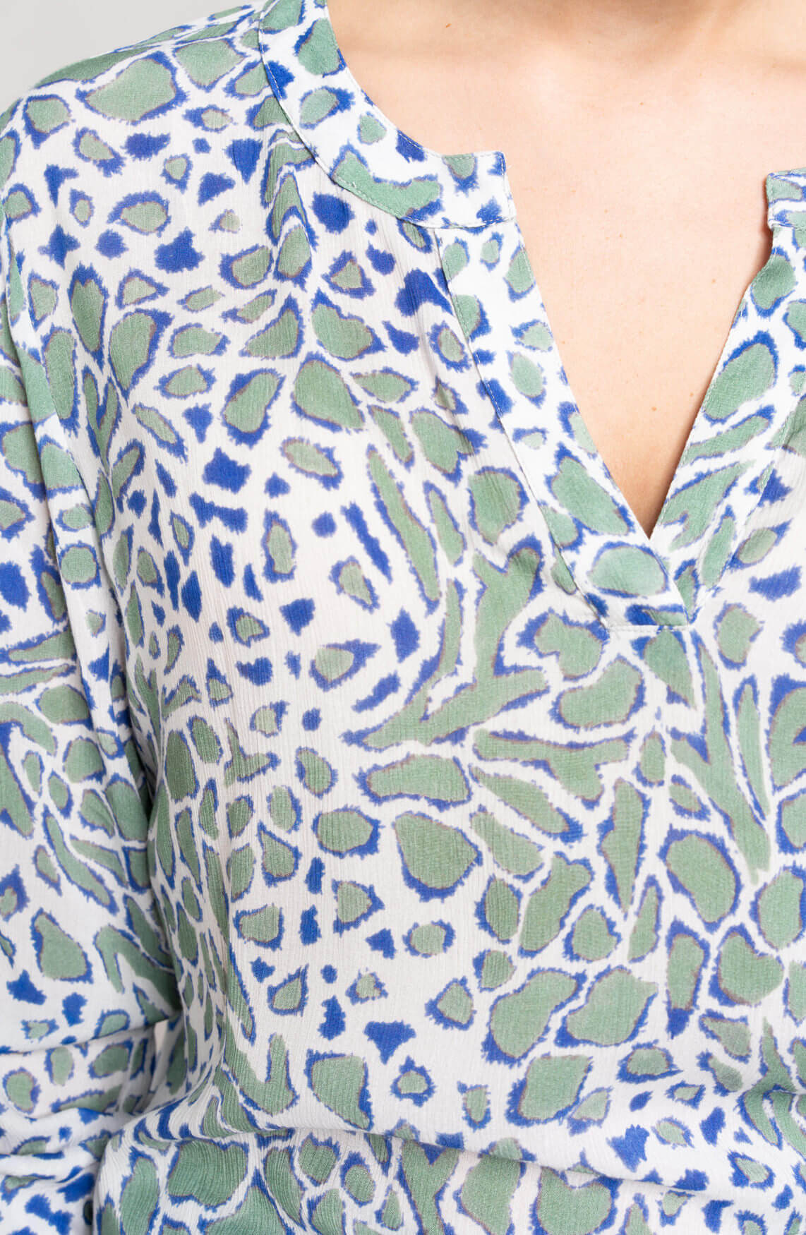 Anna Blue Dames Blouse met print groen