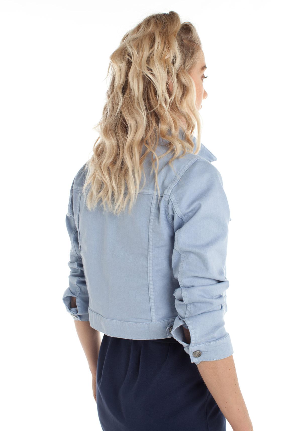 Anna Dames Cropped spijkerjack Blauw