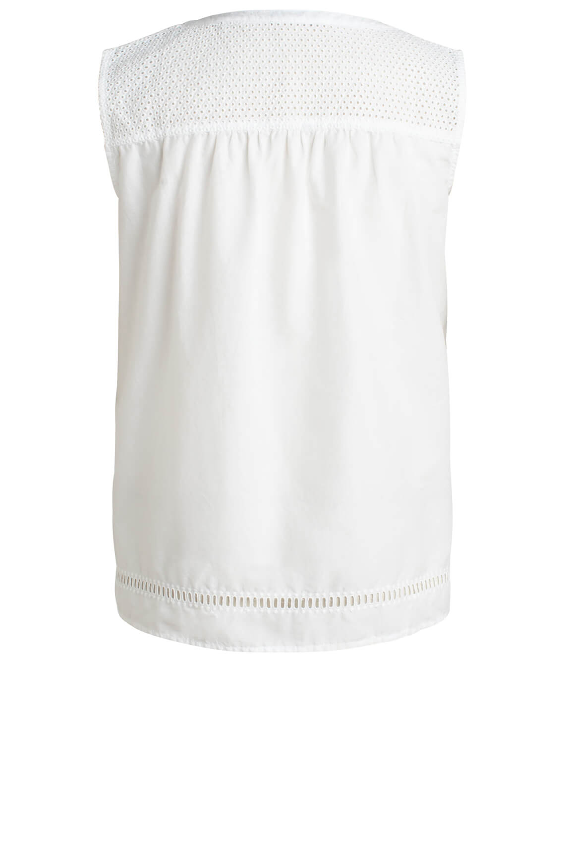 Marc O'Polo Dames Broderie blouse wit