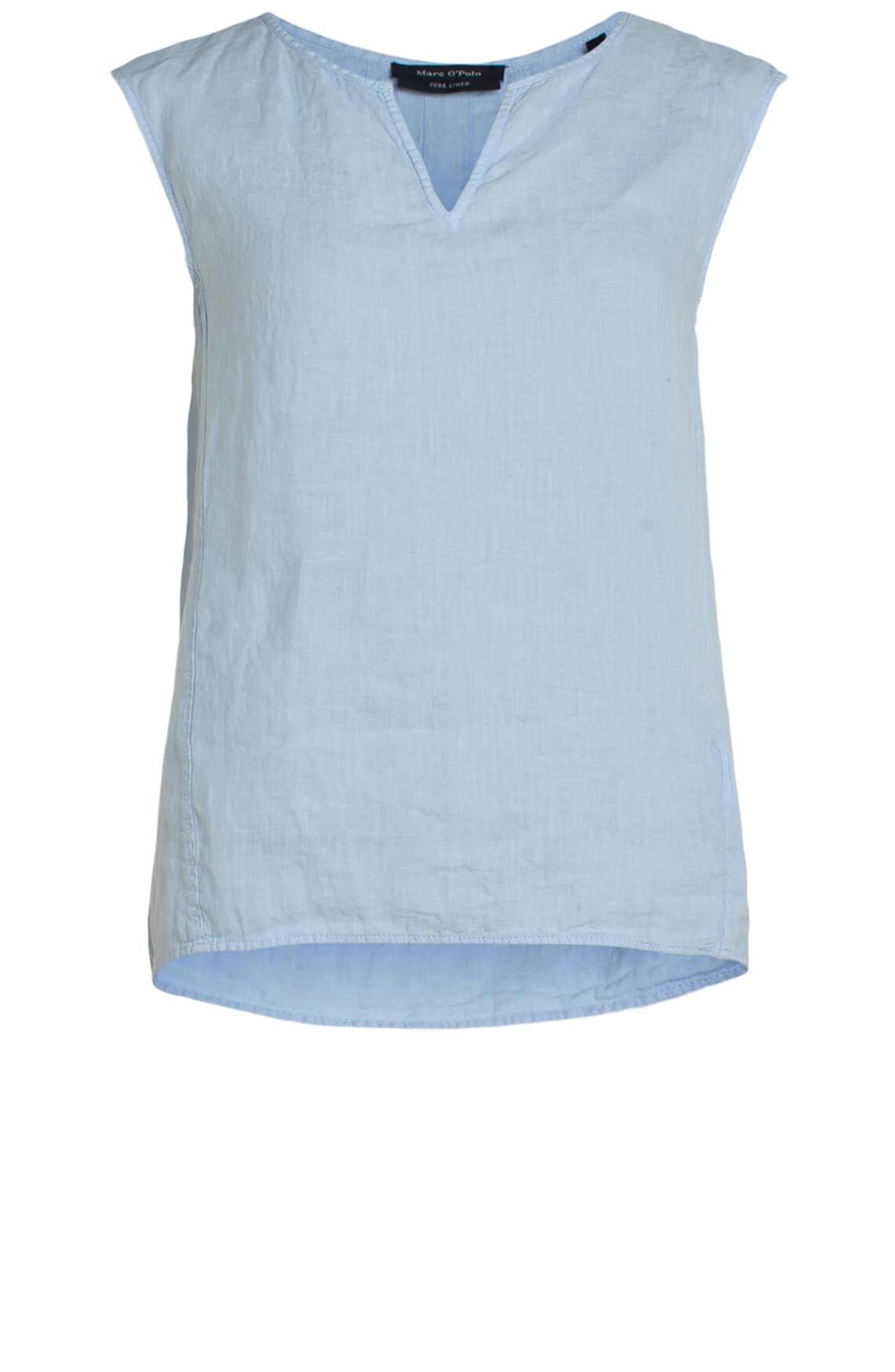 Marc O'Polo Dames Linnen mouwloze blouse Blauw