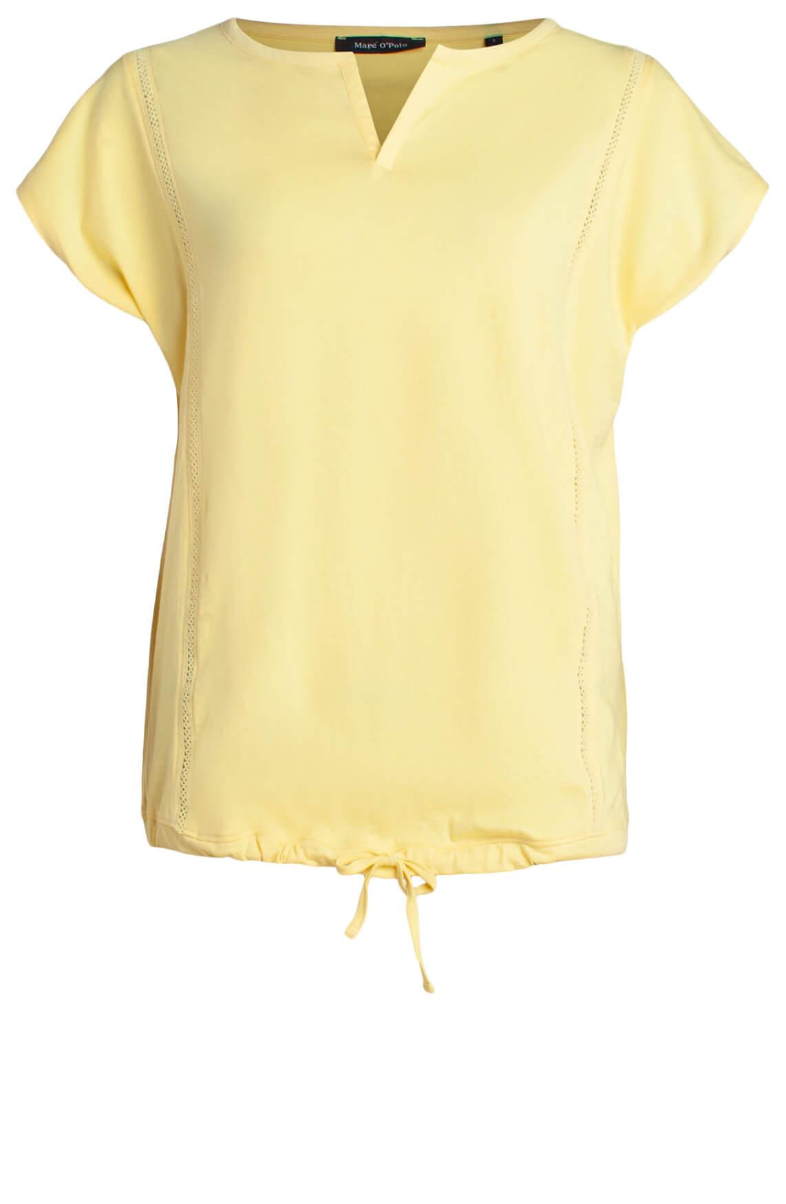 Marc O'Polo Dames Shirt met koordsluiting geel