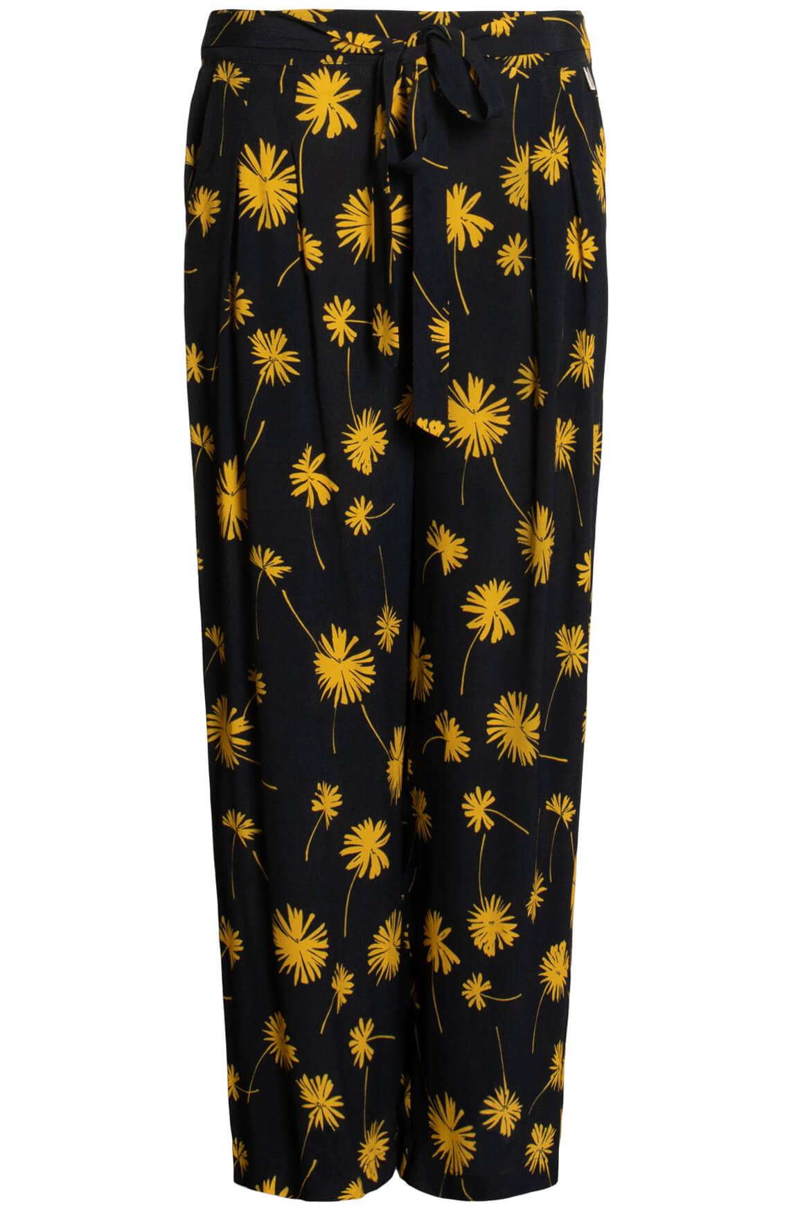 Anna Dames Broek met floral print geel