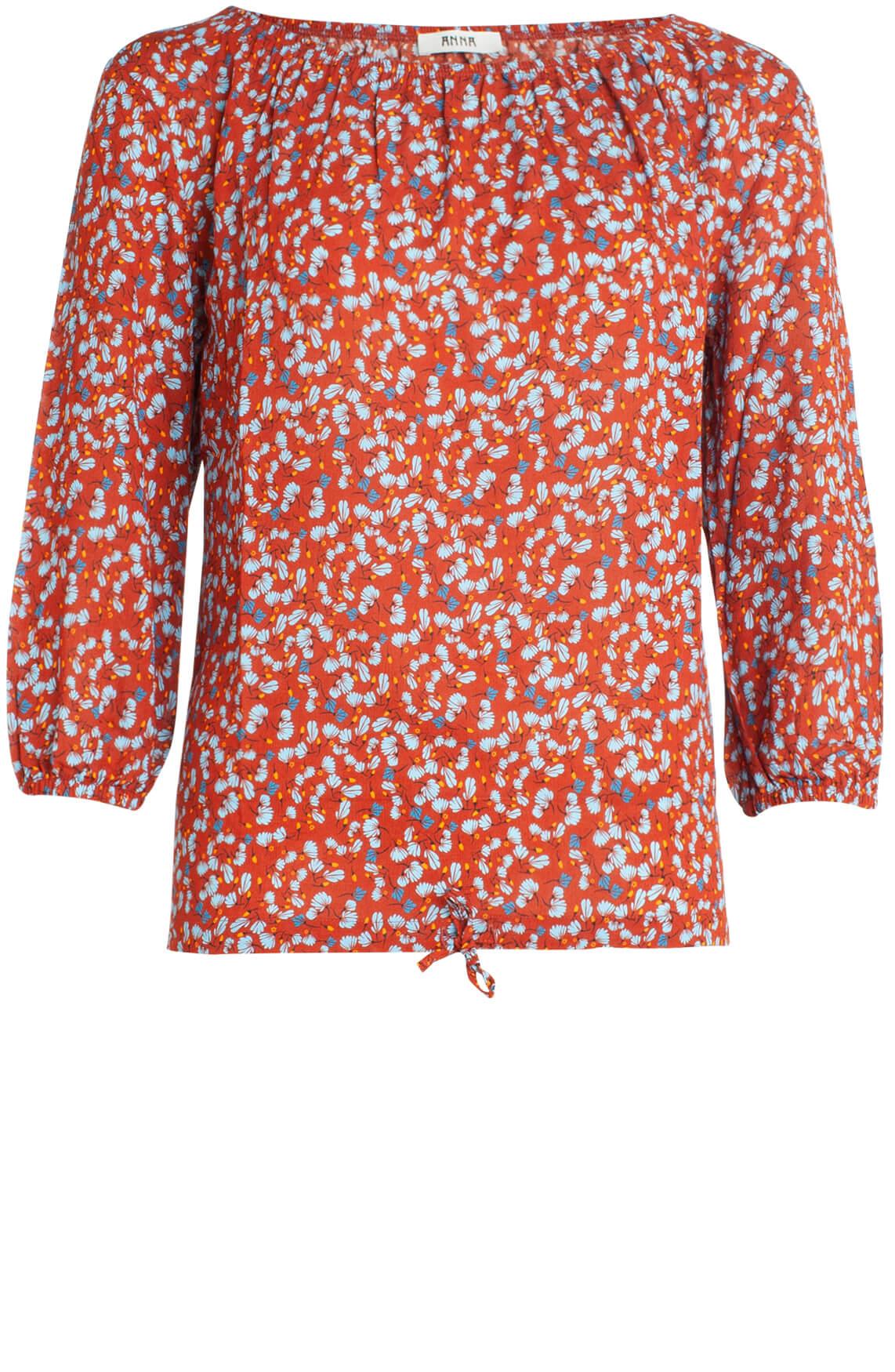 Anna Dames Blouse met floral print Rood