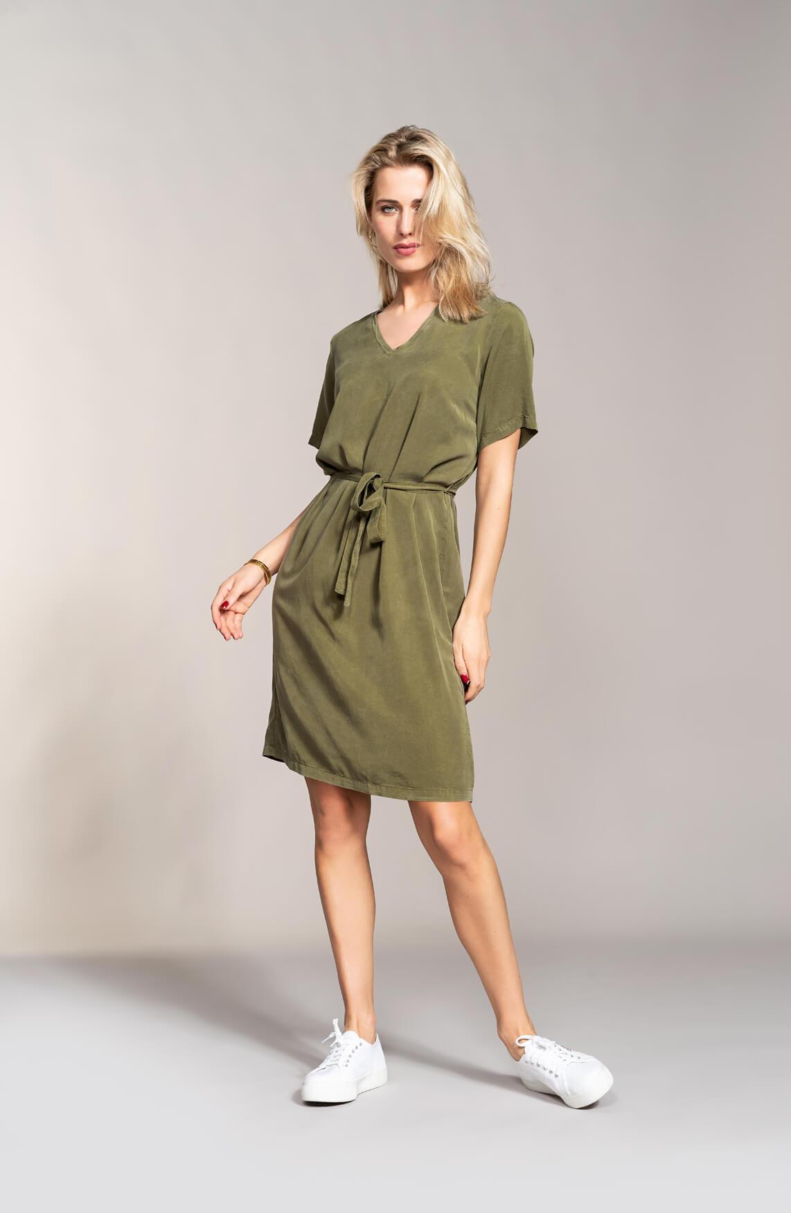 Anna Dames Perfect dress groen