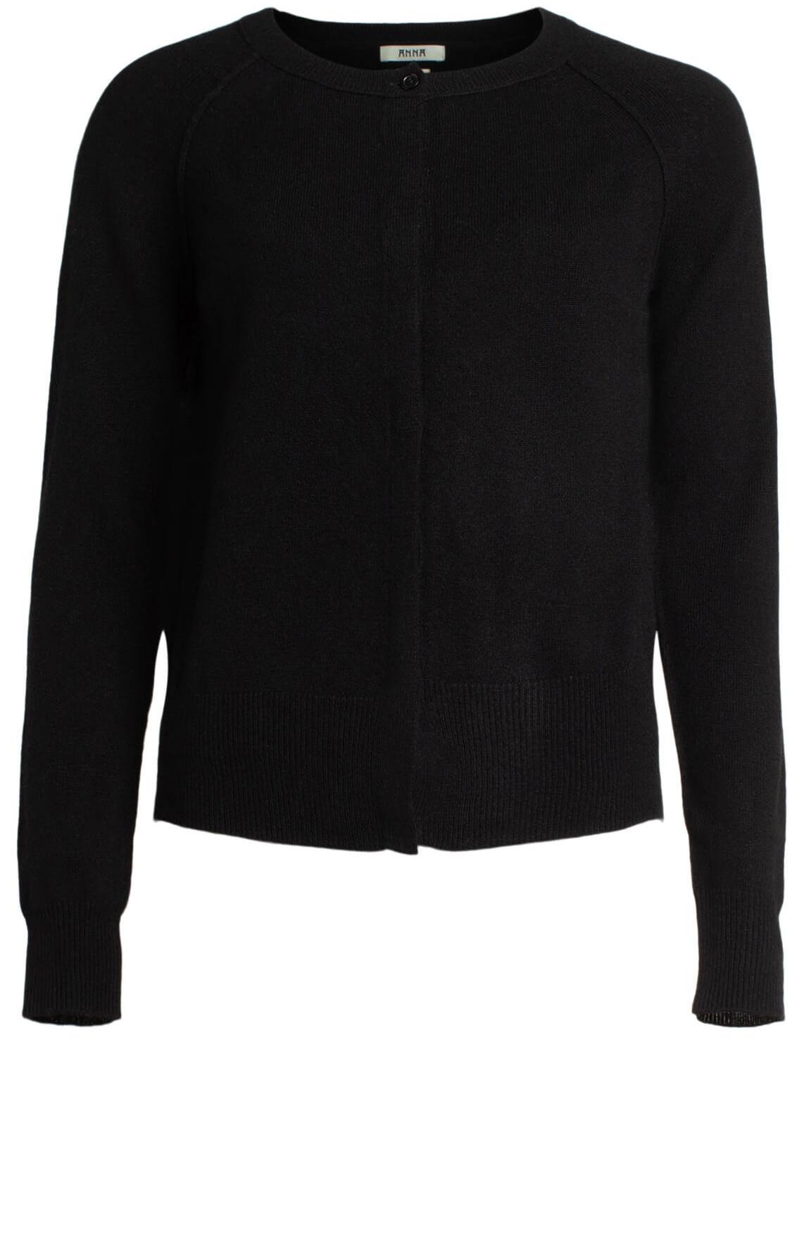 Anna Dames Cashmere vest zwart