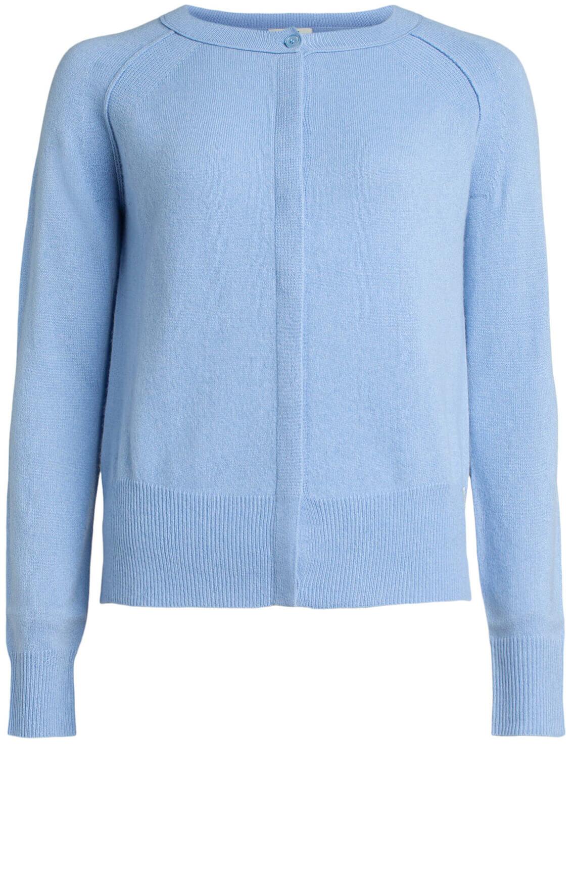 Anna Dames Cashmere vest Blauw