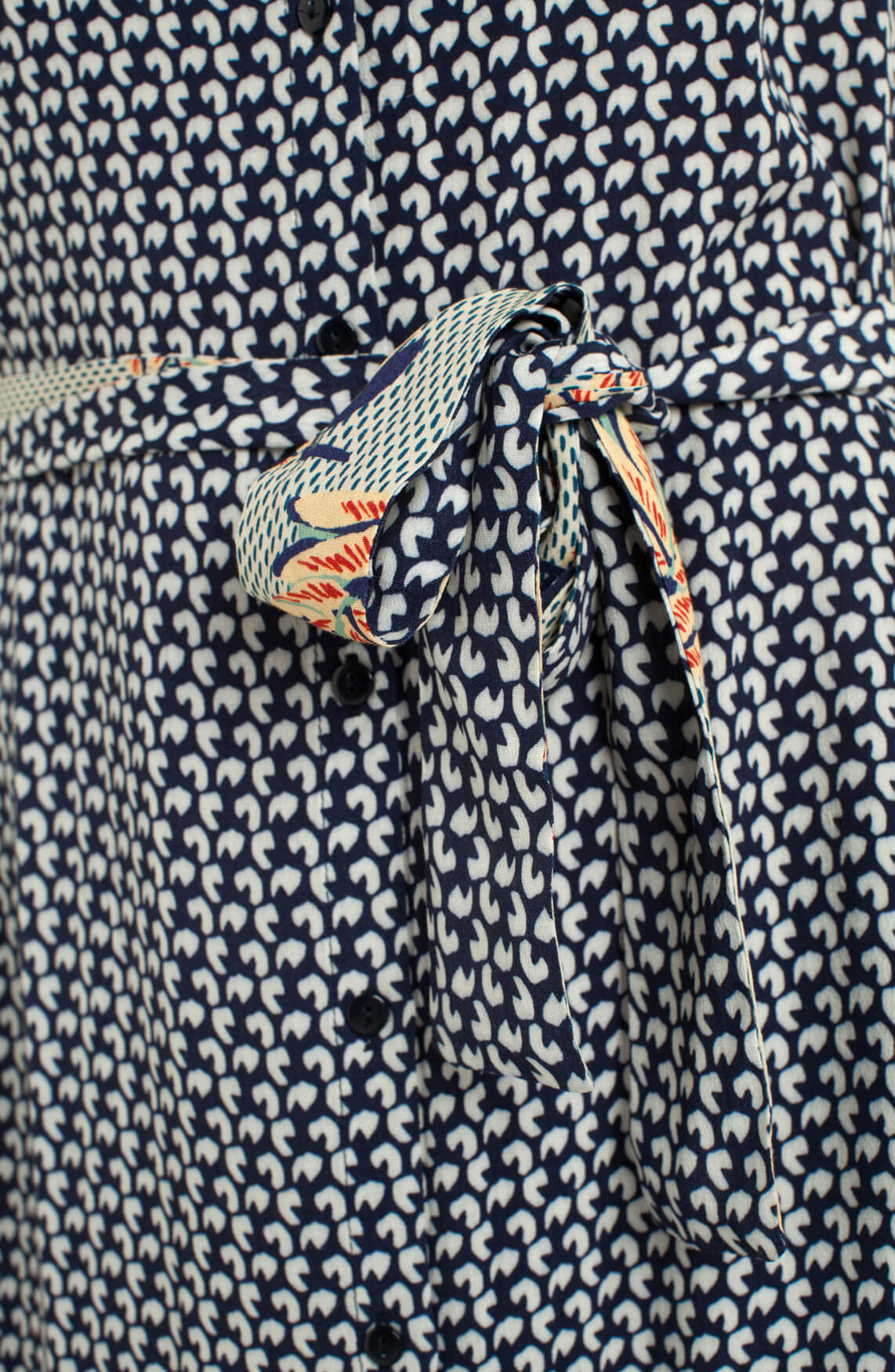Anna Blue Dames Lange jurk met print Blauw