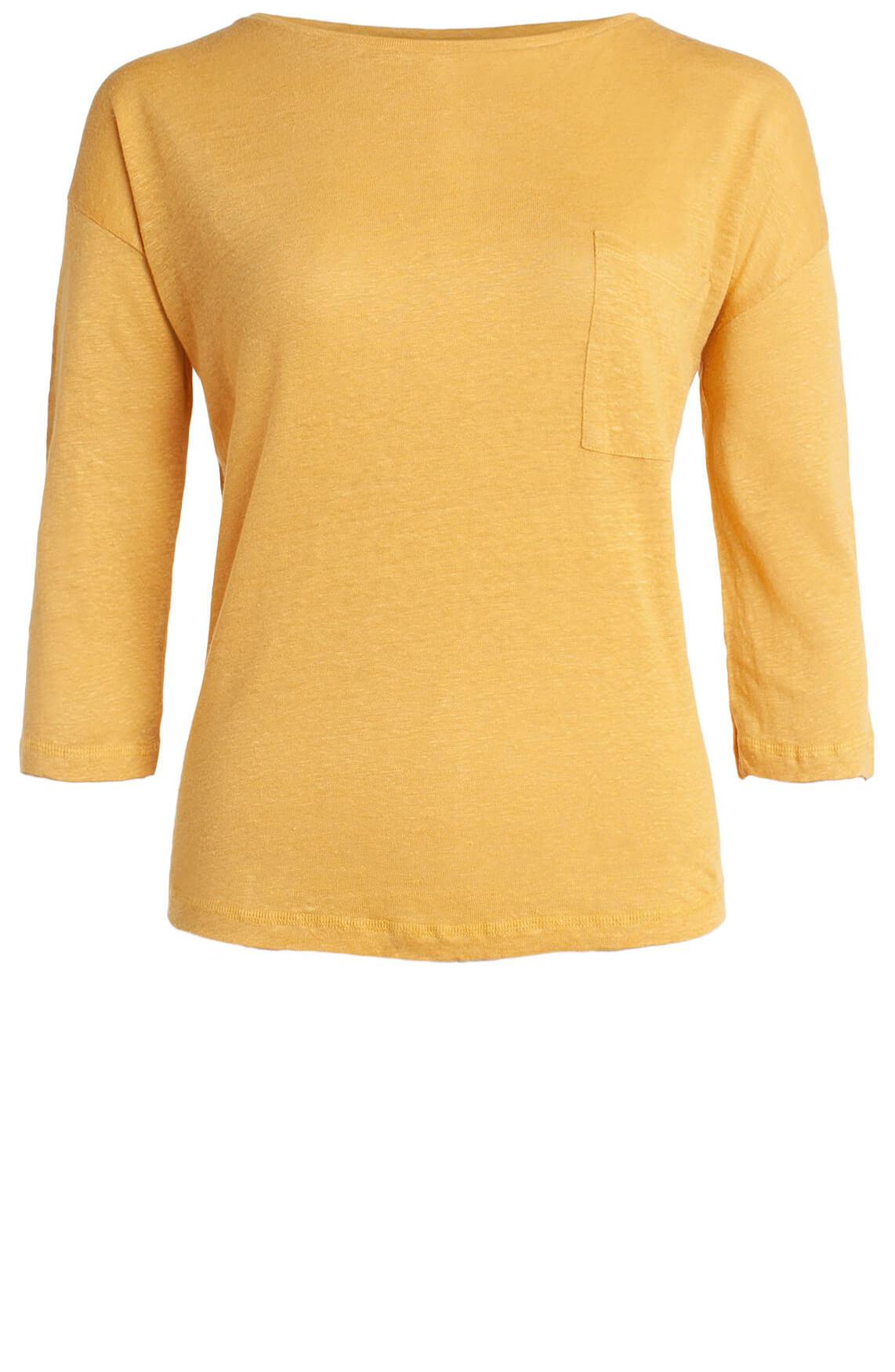 Anna Blue Dames Linnen shirt geel