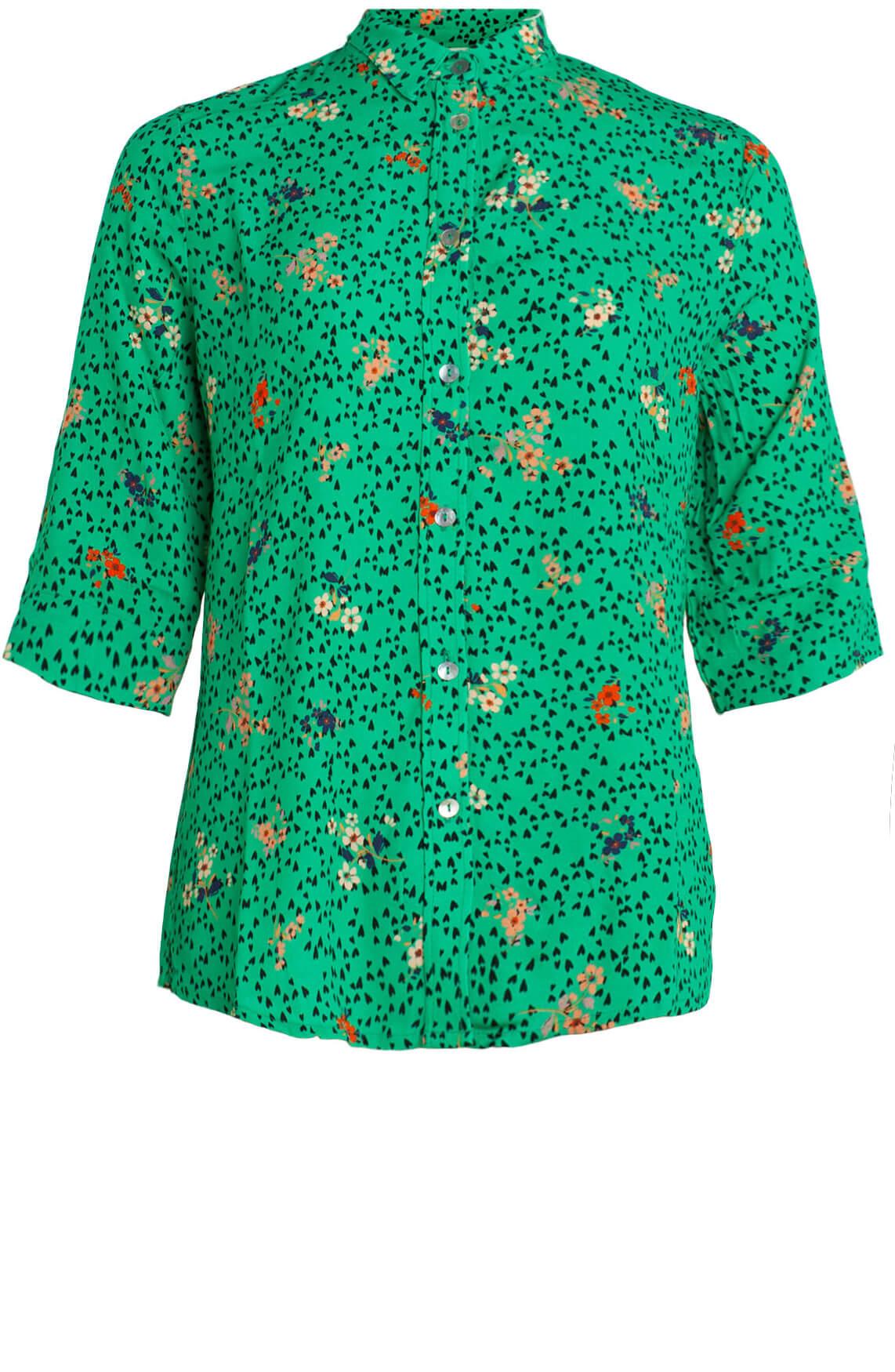 Anna Dames Blouse met print groen