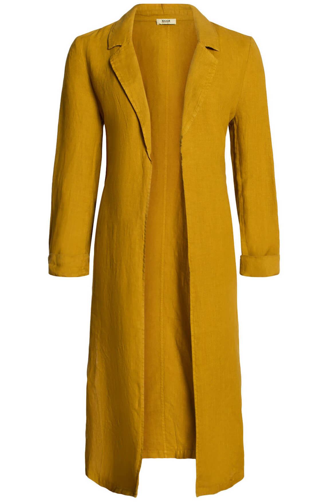 Anna Dames Linnen blousejas geel
