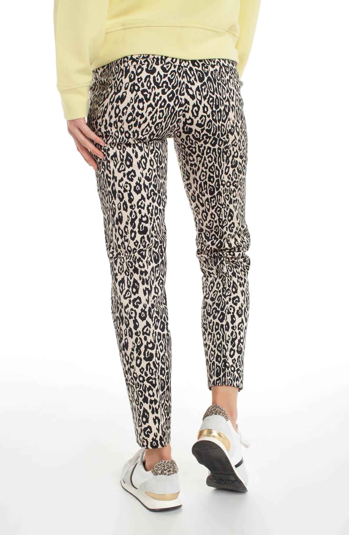 Cambio Dames Ros panterprint pantalon Bruin