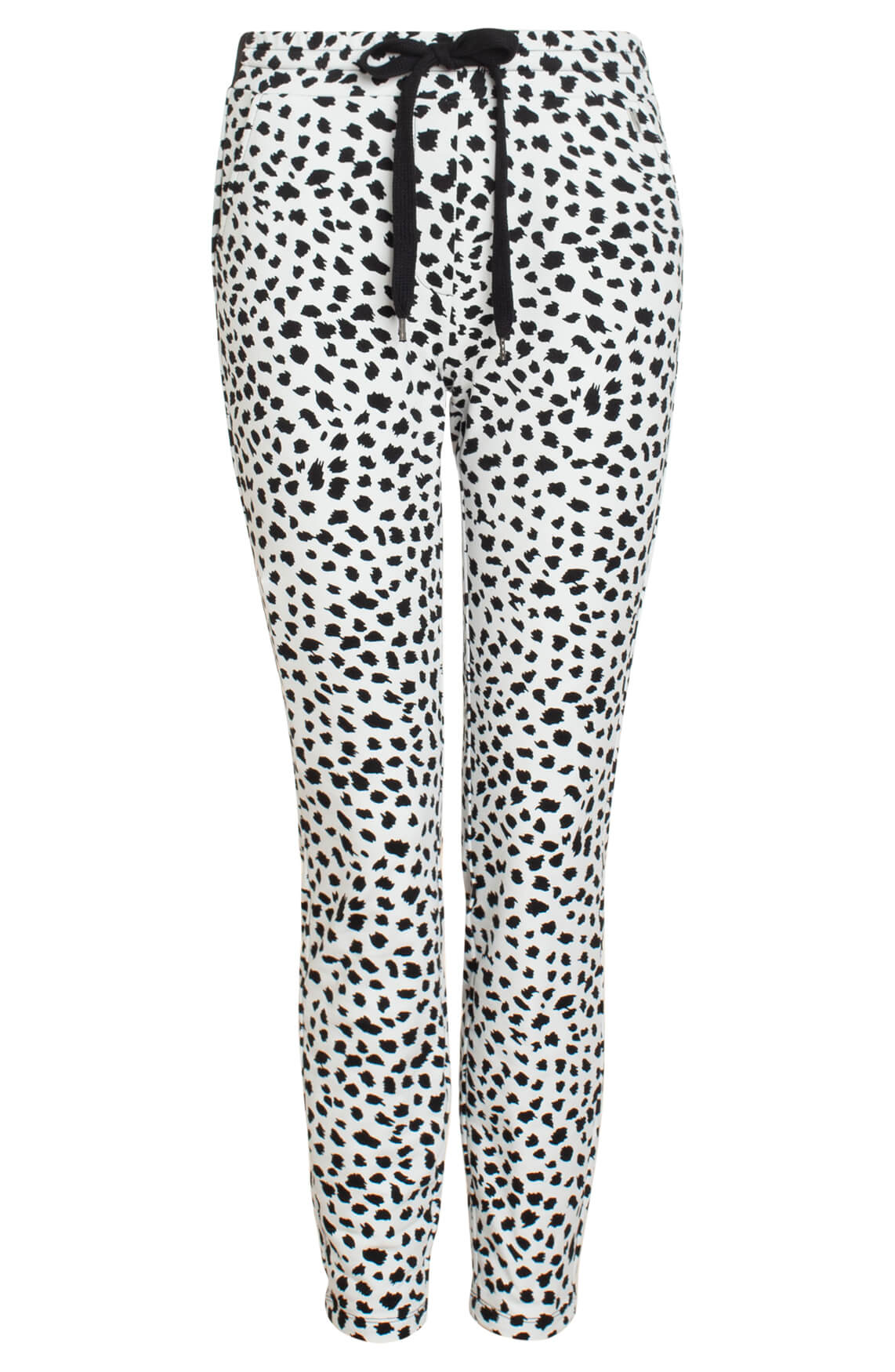 Anna Dames Jogpant met animalprint wit