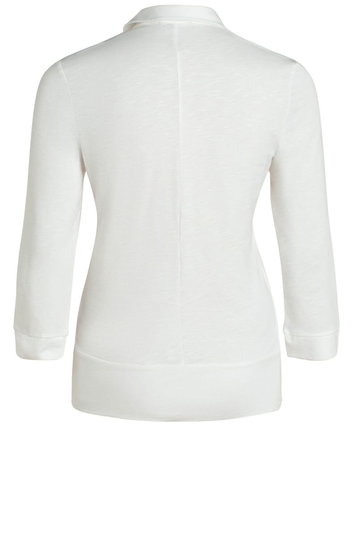 Anna Dames Blouse met knoopdetail wit