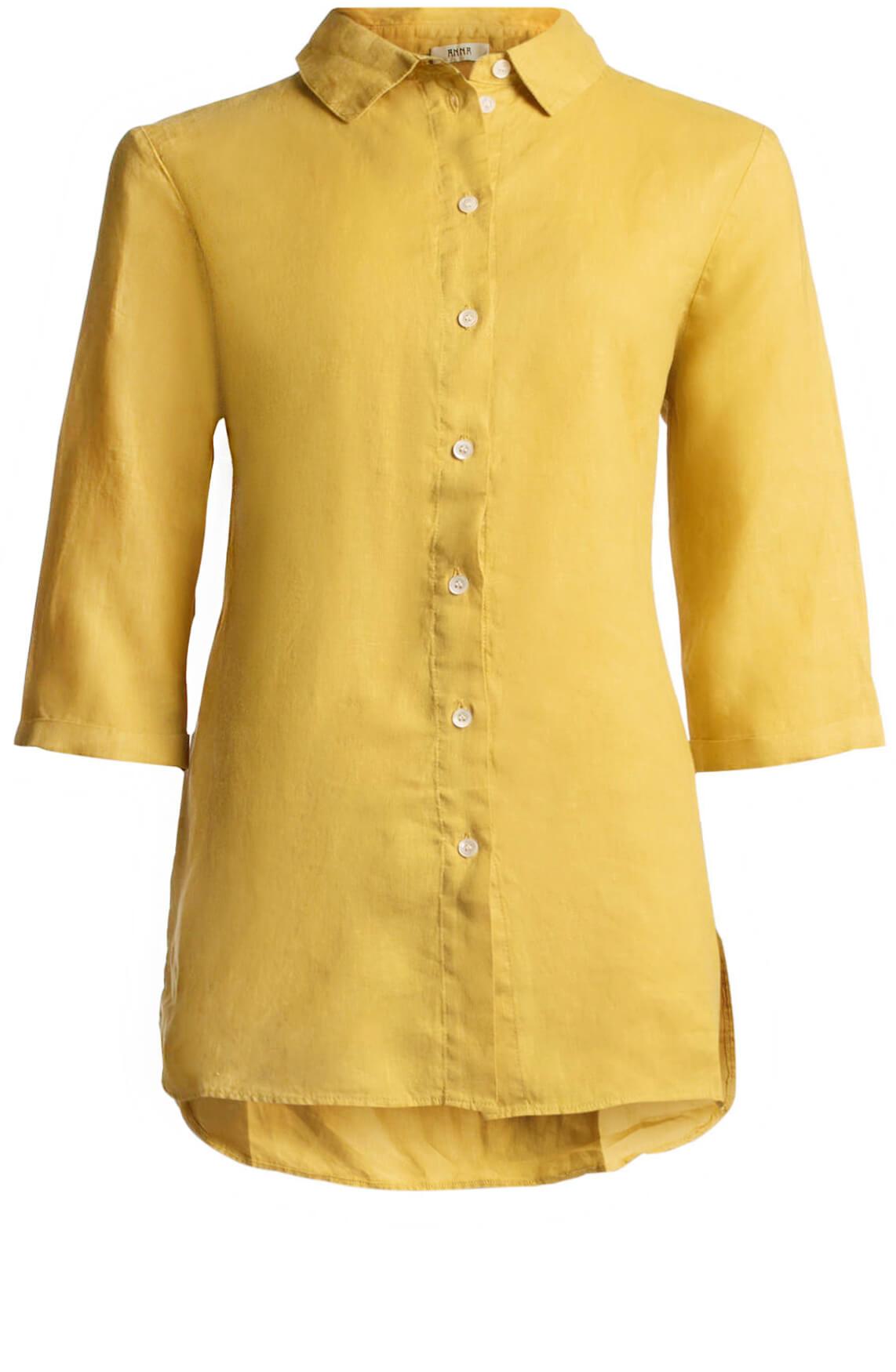 Anna Dames Linnen blouse geel