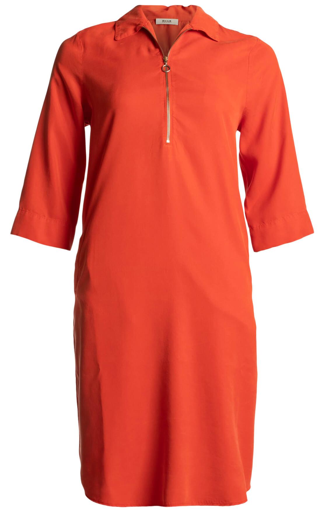 Anna Dames Tencel jurk Rood