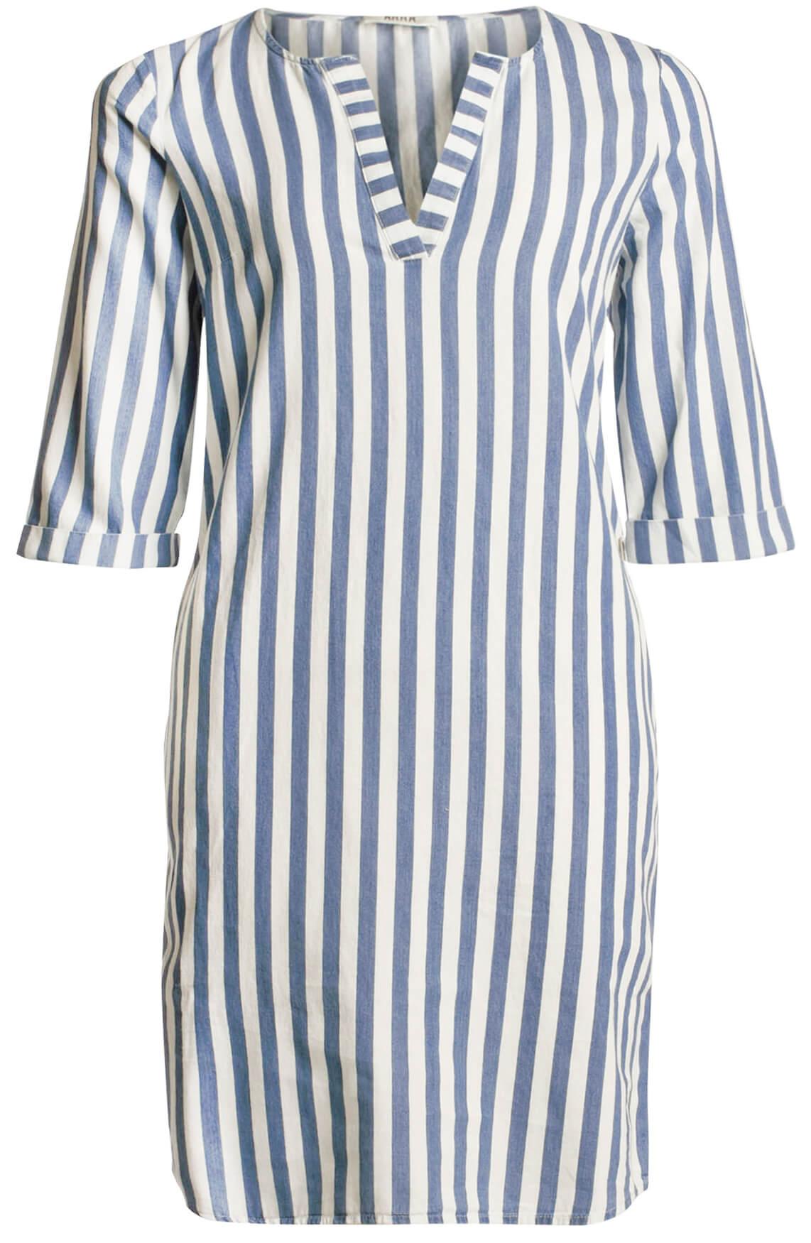 Anna Dames Gestreepte jurk Blauw