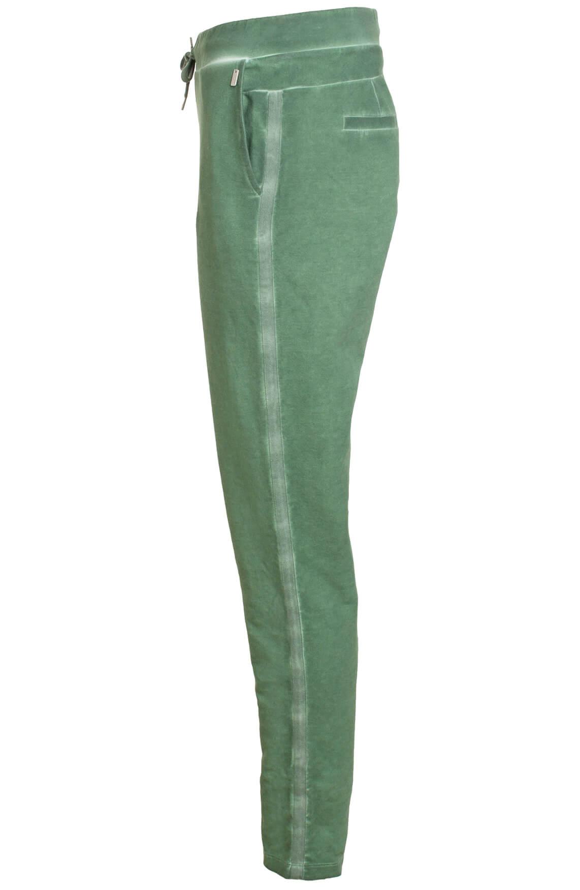 Anna Dames Garment dye jogpant groen
