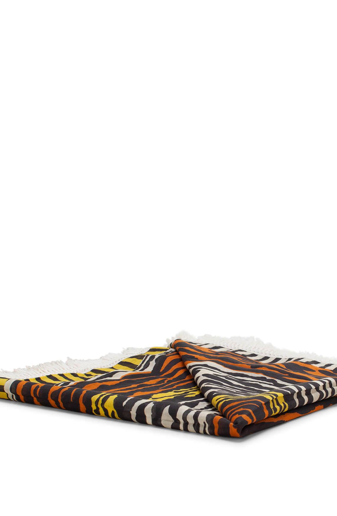 Anna Dames Shawl met zebraprint geel