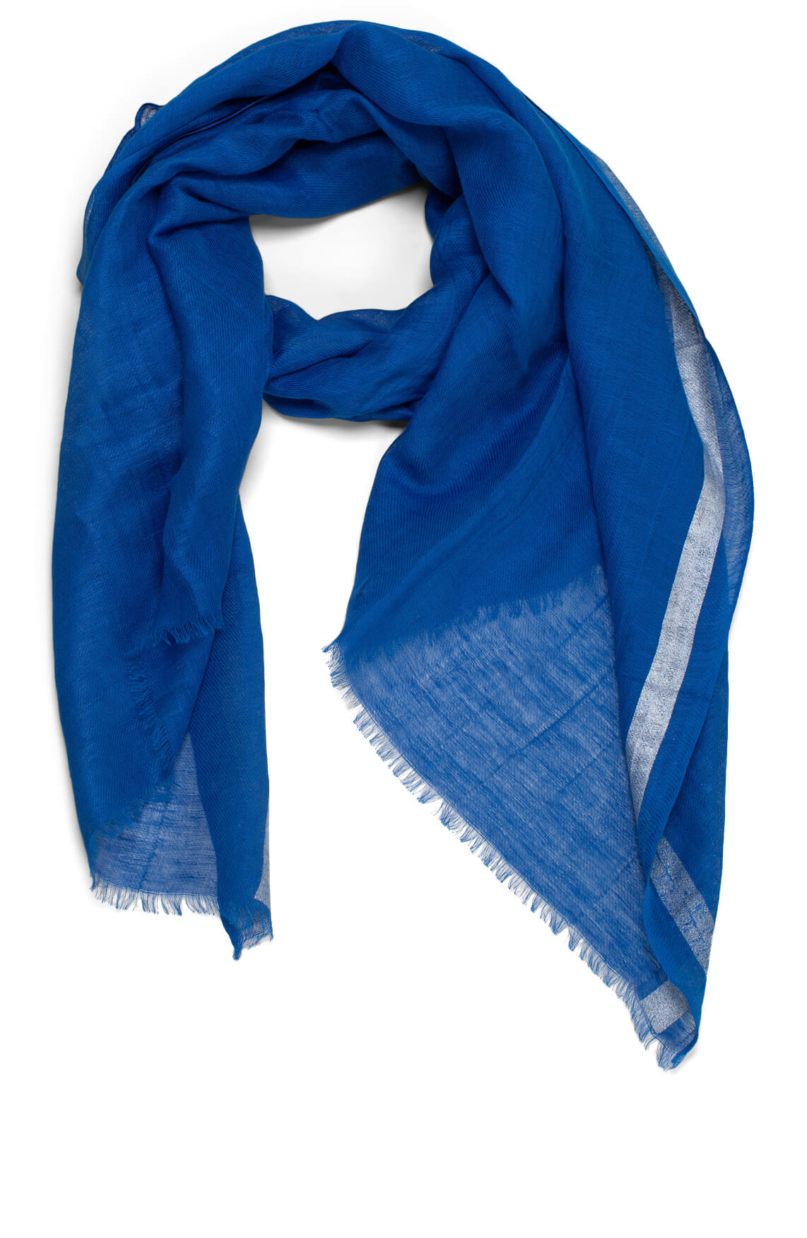 Anna Dames Shawl met glitterstreep Blauw