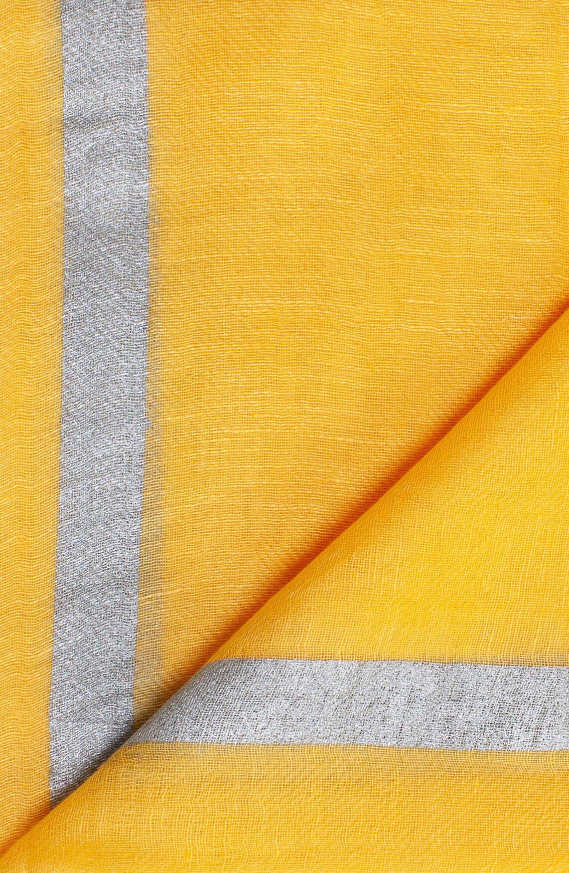 Anna Dames Shawl met glitterstreep geel
