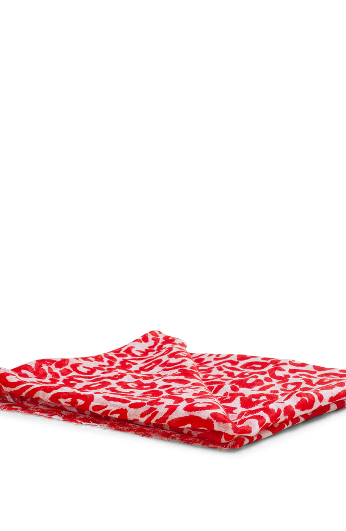 Moment by Moment Dames Shawl met panterprint Rood