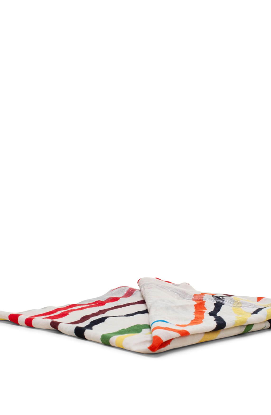 Moment by Moment Dames Shawl met een gekleurde streepprint Ecru