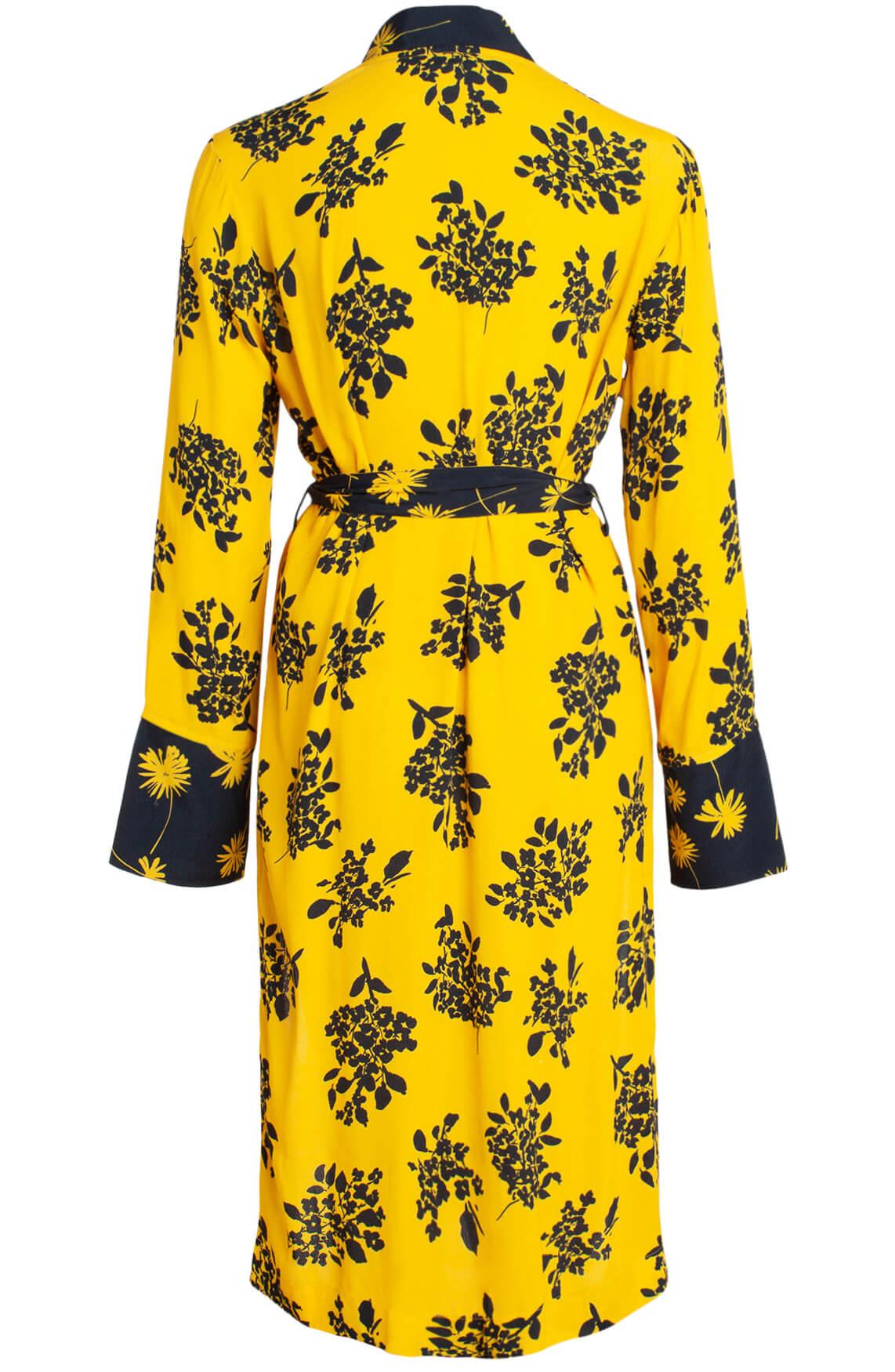 Anna Dames Kimono met bloemenprint geel