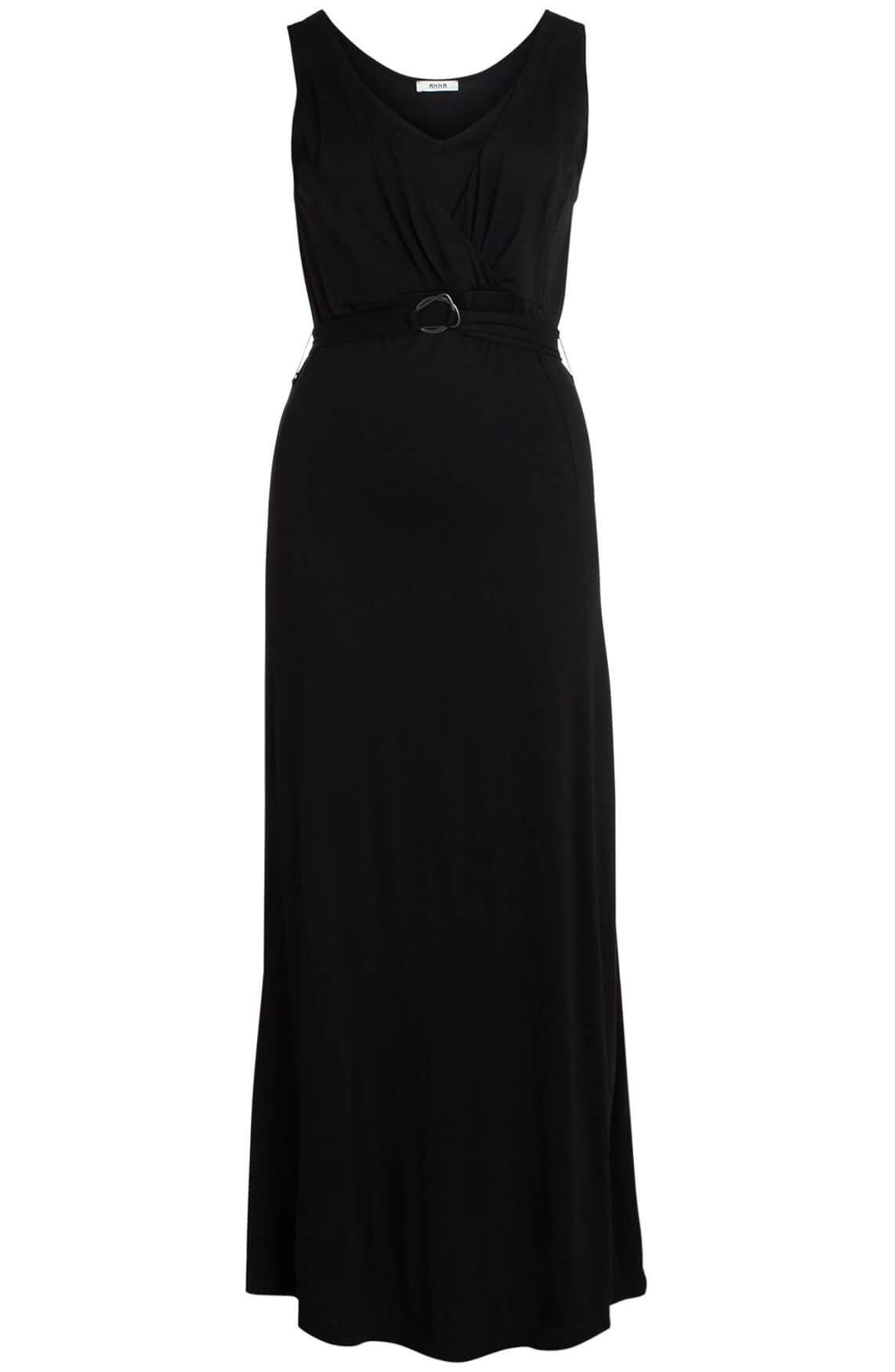 Anna Dames Lange jurk zwart