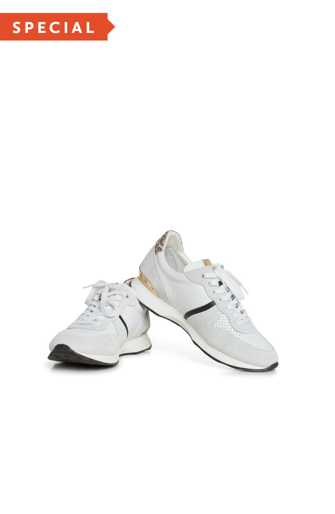 Hip Dames Sneaker met panterdetail Grijs