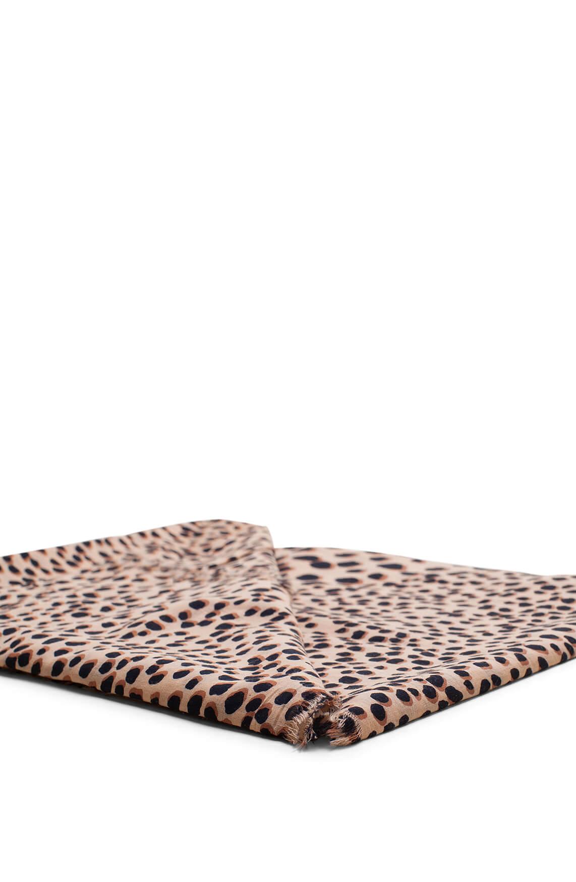 Anna Dames Animalprint shawl Bruin