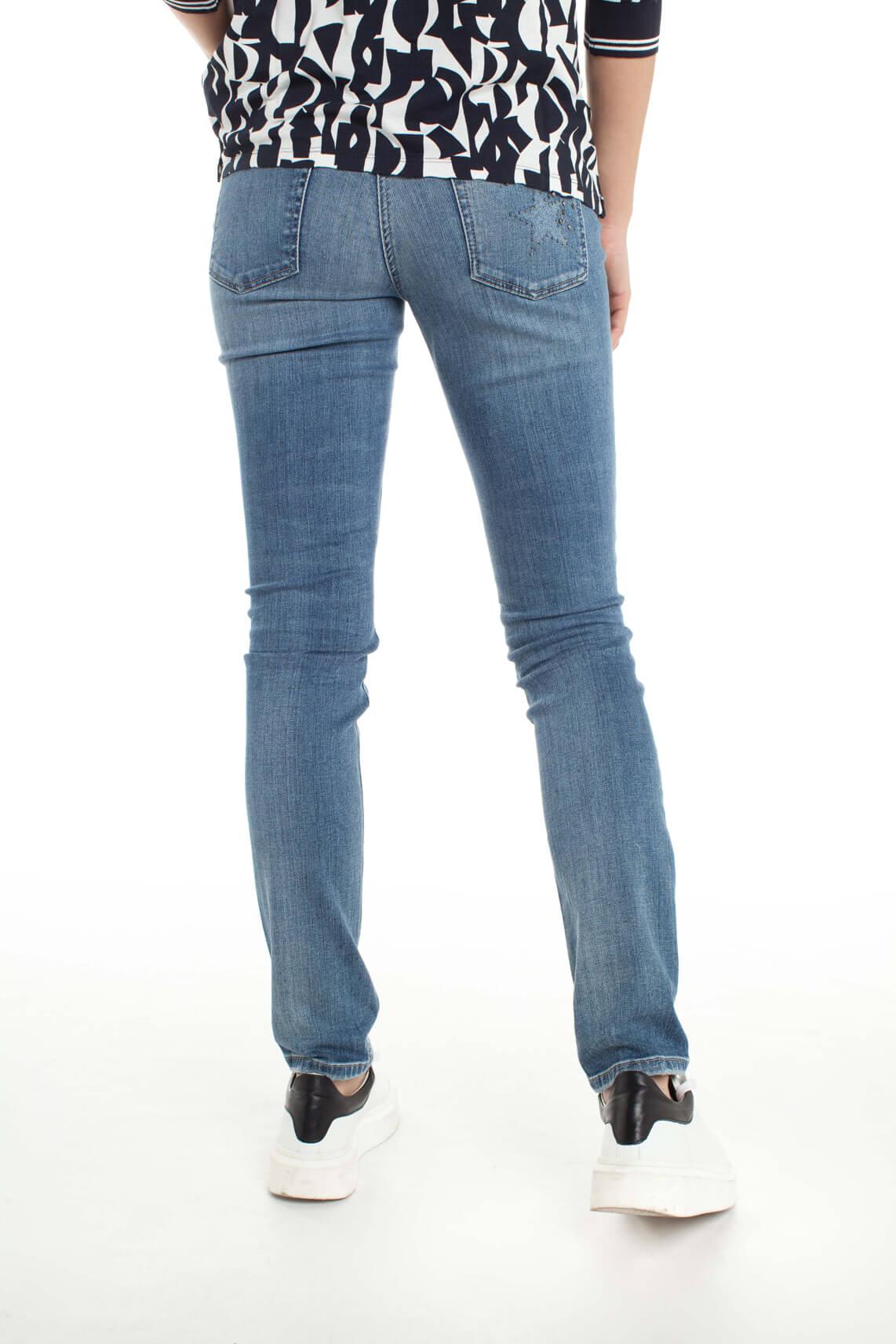 Cambio Dames Parla jeans met studs Blauw